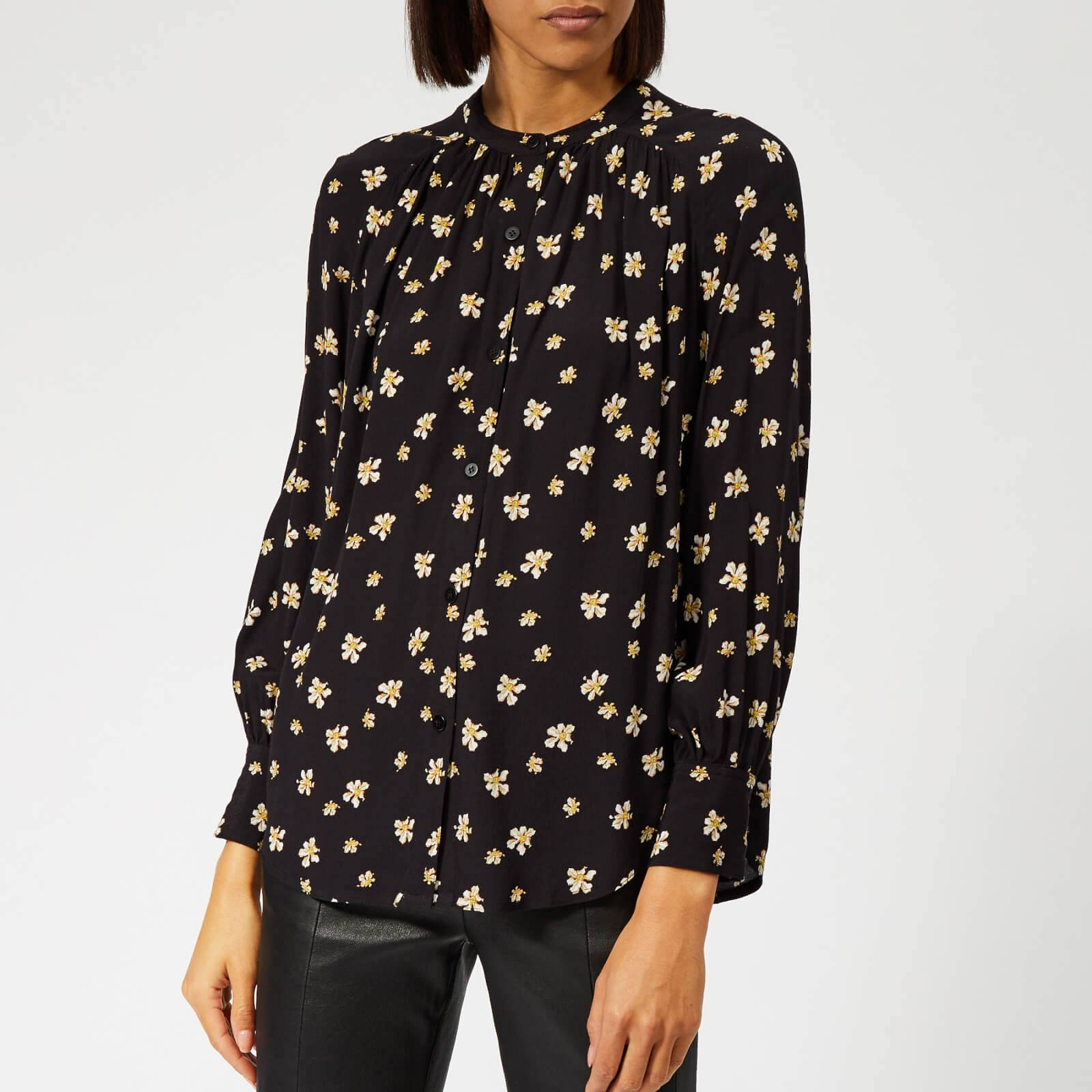 Whistles Women's Edelweiss Print Blouse - Black/Multi - UK 6 - Black