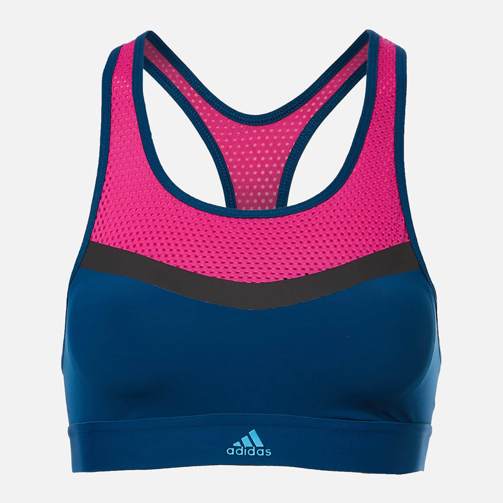 adidas Women's Don't Rest Swim Crop Top - Blue/Pink - 34B - Multi