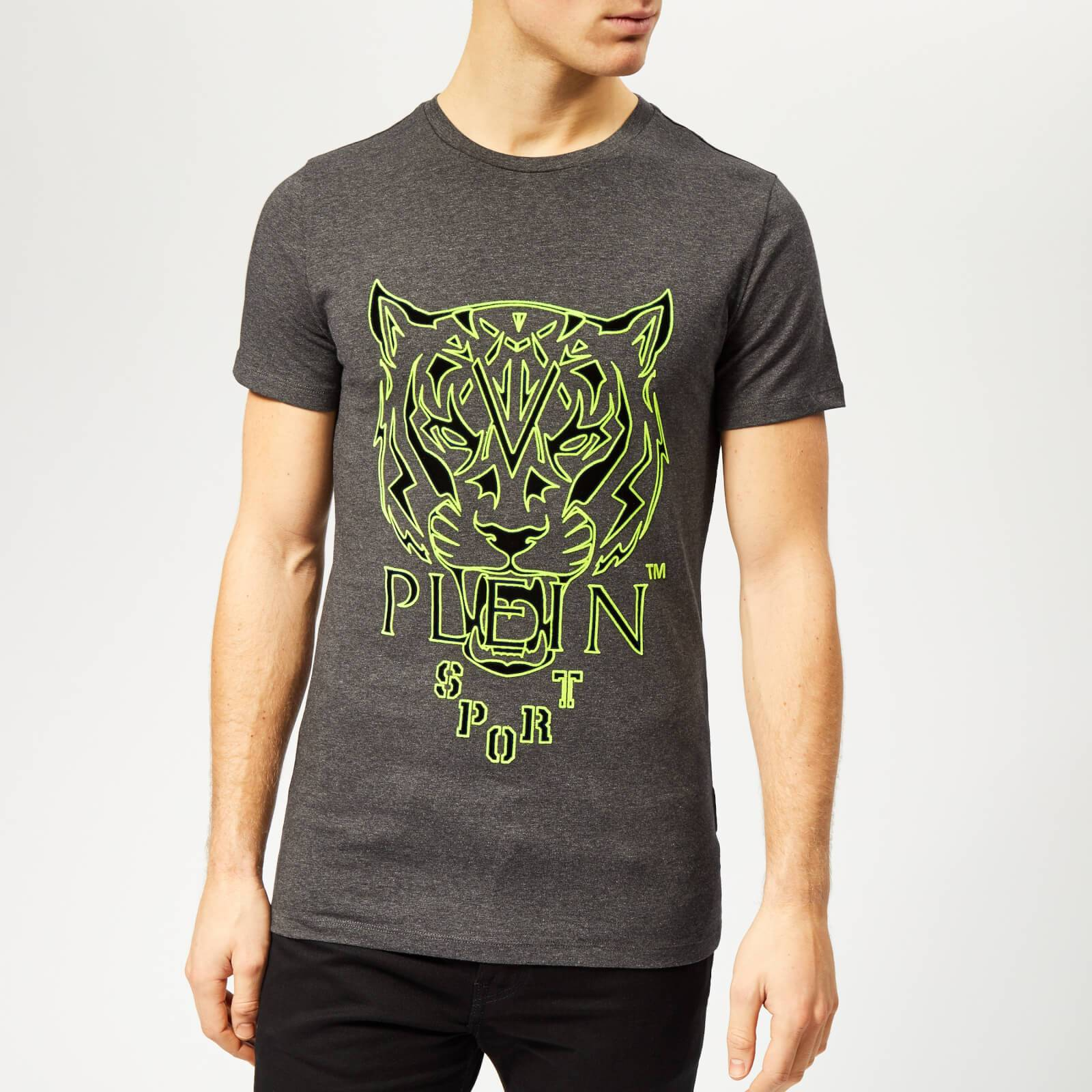 Plein Sport Men's Tiger T-Shirt - Grey - L - Grey