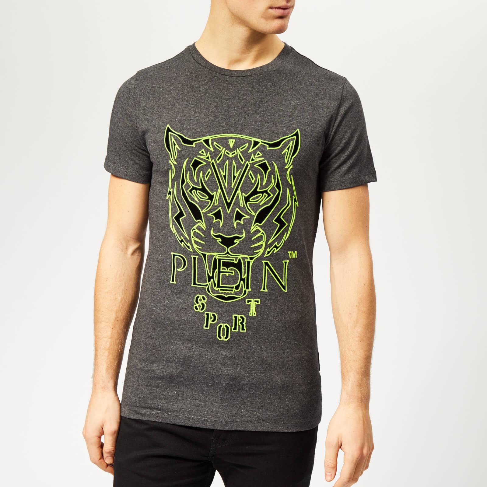 Plein Sport Men's Tiger T-Shirt - Grey - S - Grey