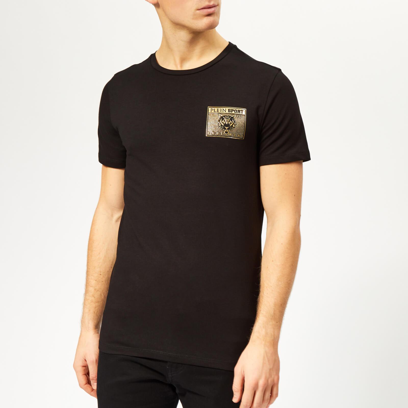 Plein Sport Men's Metal Sport T-Shirt - Black/Gold - L - Black/Gold