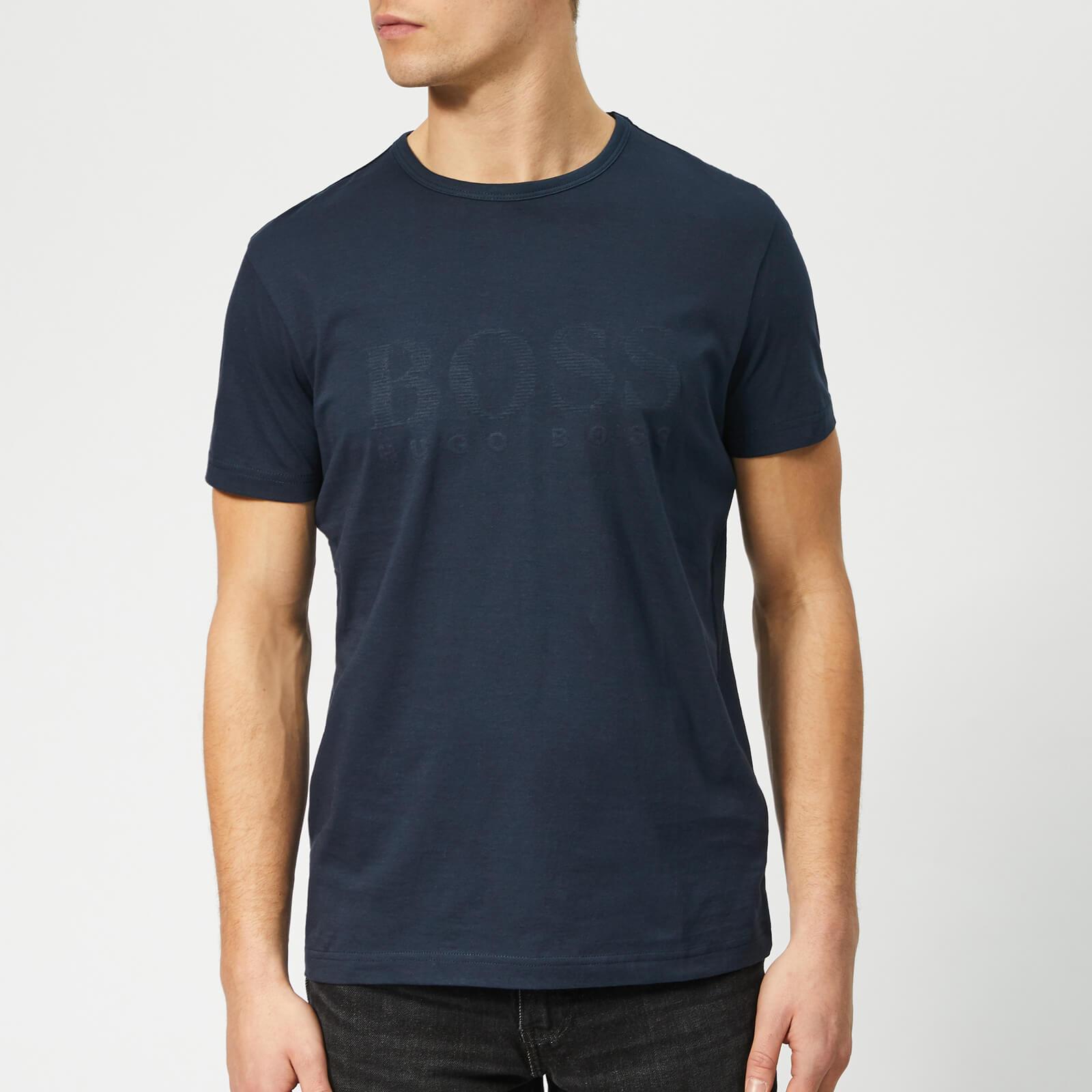 Boss Men's Basic Large Brand Chest T-Shirt - Navy - XL - Navy