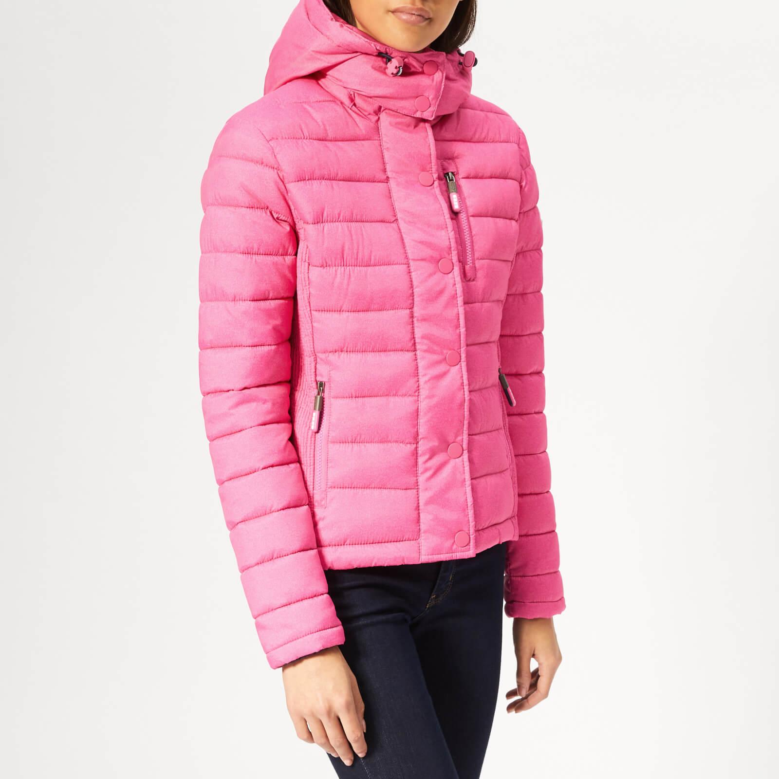 Superdry Women's Fuji Slim Double Zip Jacket - Pink Marl - S - Pink