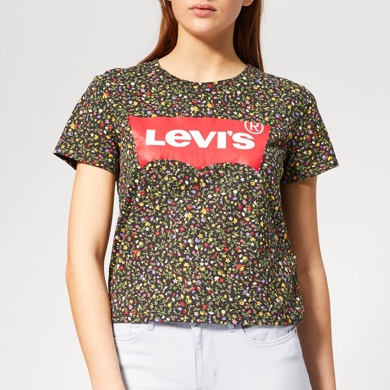 Levi's s Graphic Surf T-Shirt - Ditsy Secret Garden Caviar - XS - Multi