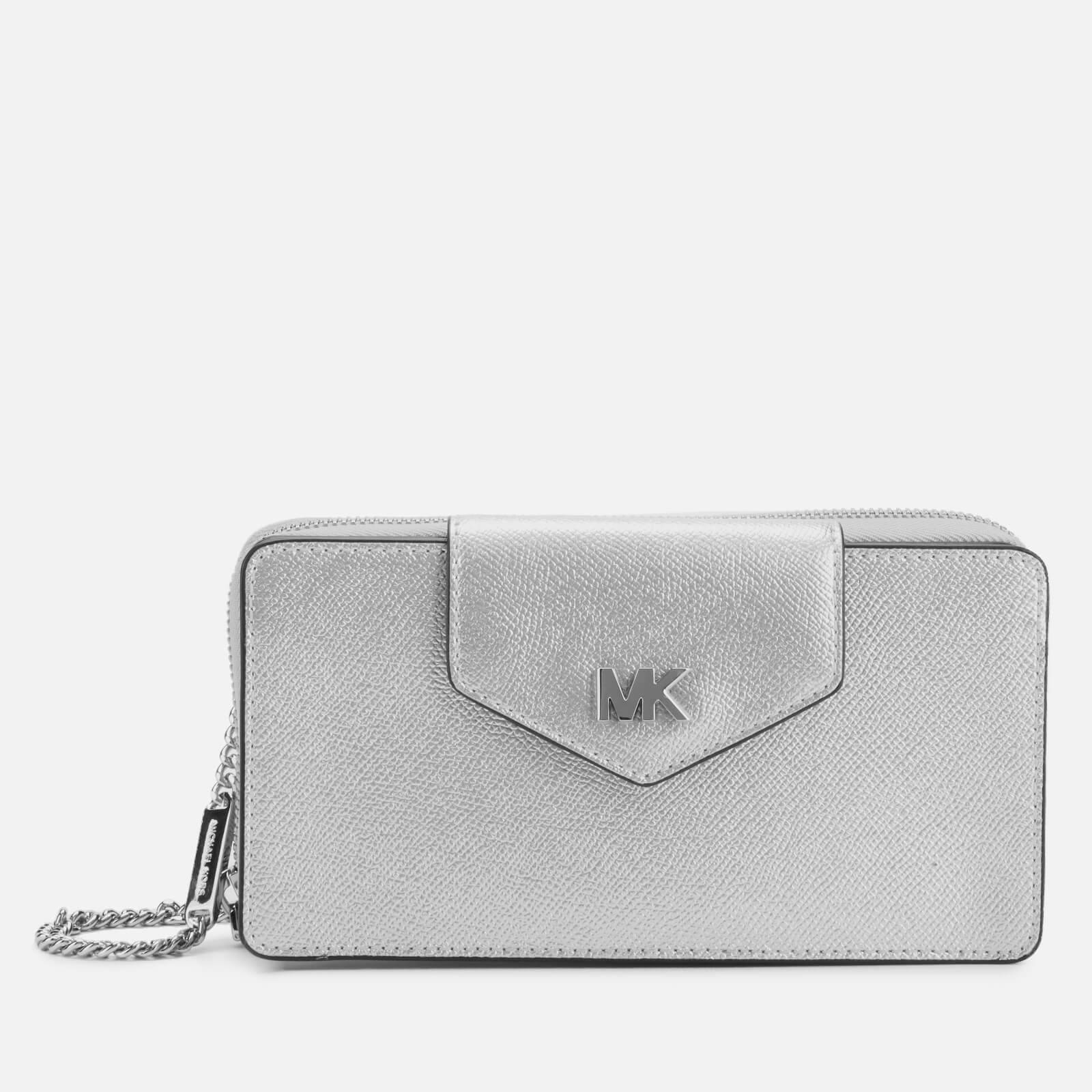 MICHAEL MICHAEL KORS Women's Small Convertible Phone Cross Body Bag - Silver