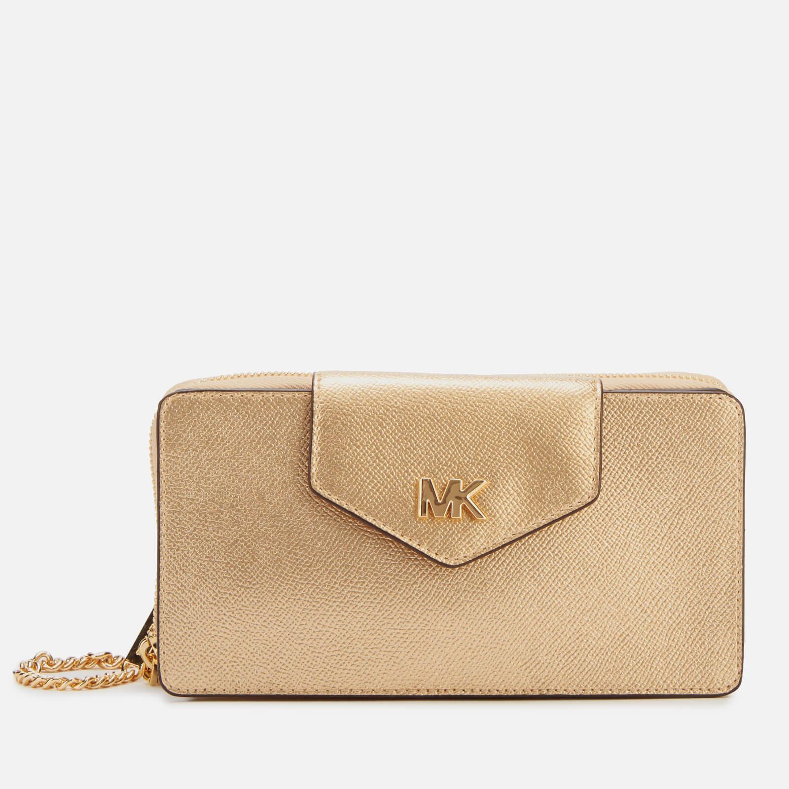 MICHAEL MICHAEL KORS Women's Small Convertible Phone Cross Body Bag - Pale Gold