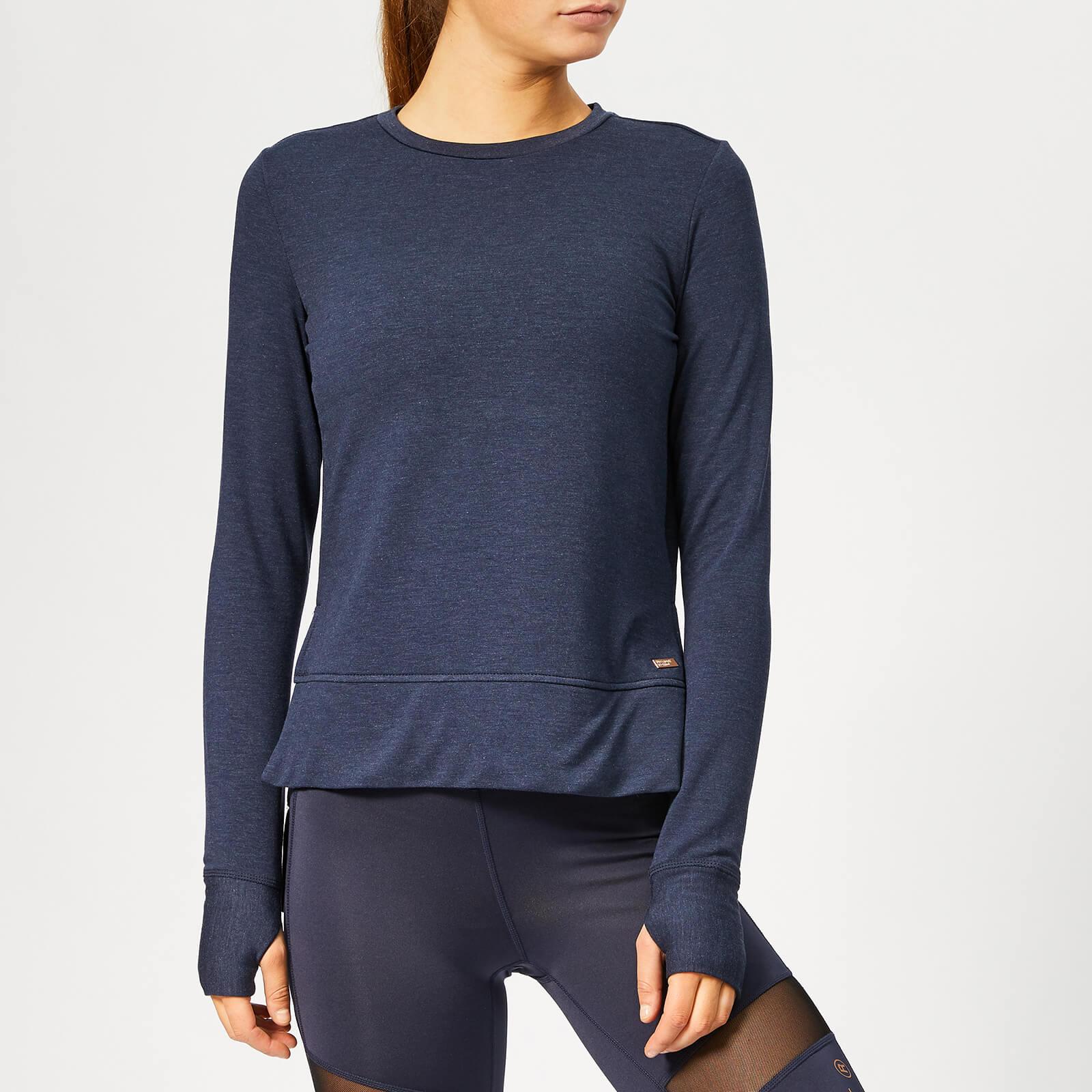 Superdry Sport Women's Active Mesh Studio Luxe Crew Neck Sweatshirt - Eclispe Navy Marl - S - Blue