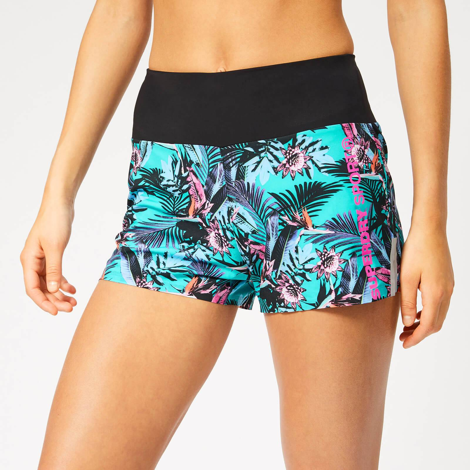 Superdry Sport Women's Active Loose Shorts - Lucy Tropical Print - L - Multi