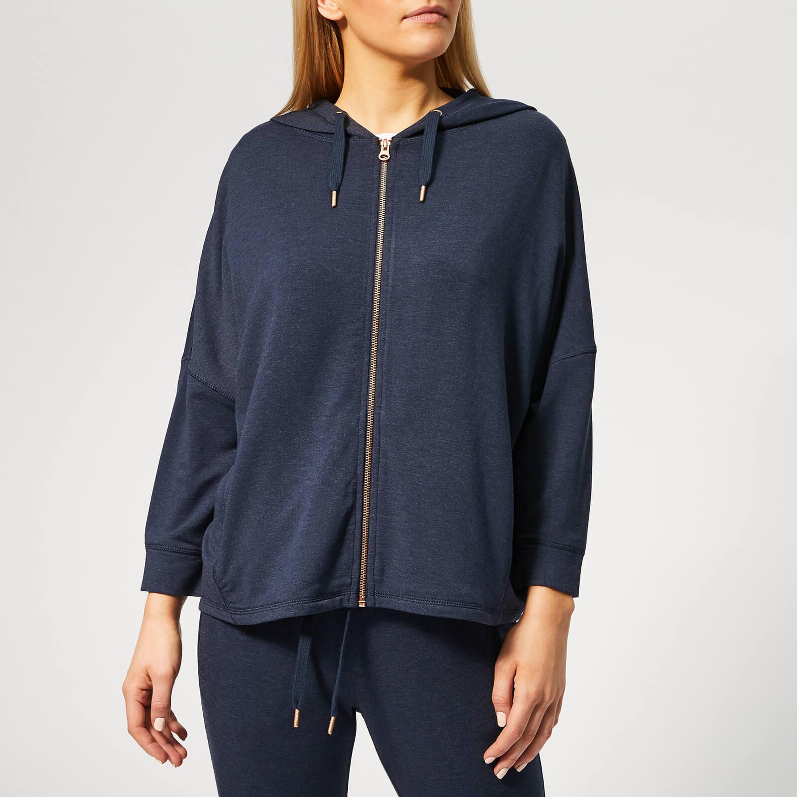 Superdry Sport Women's Active Studio Luxe Zip Hoody - Eclipse Navy Marl - S - Blue