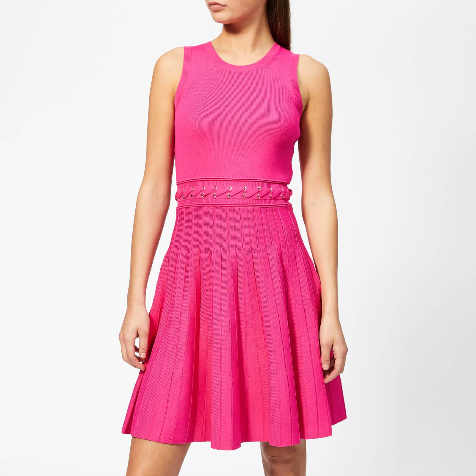 MICHAEL MICHAEL KORS Women's Grommit Lace And Crew Dress - Electric Pink - S - Pink