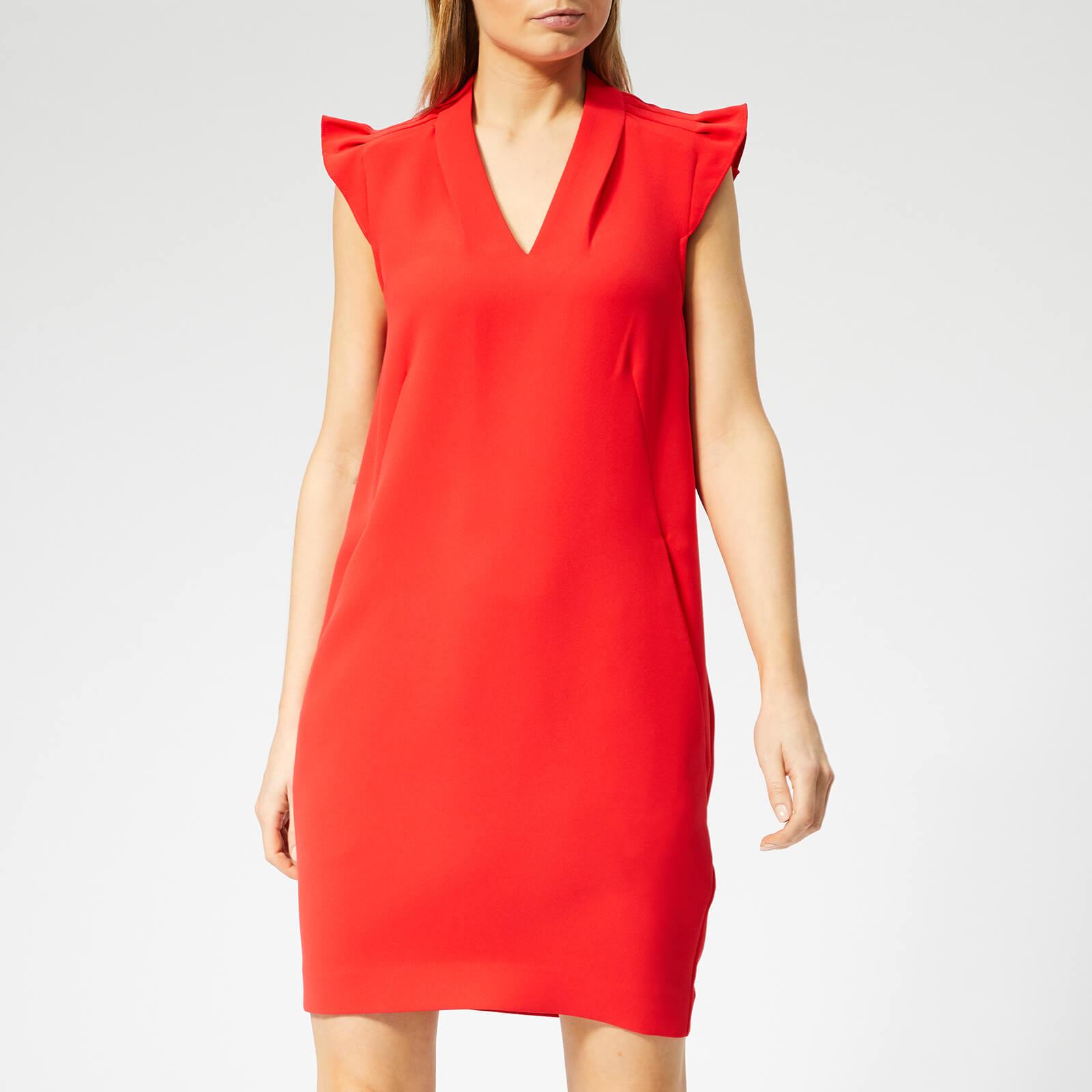 Whistles Women's Safia Crepe Dress - Red - UK 12 - Red