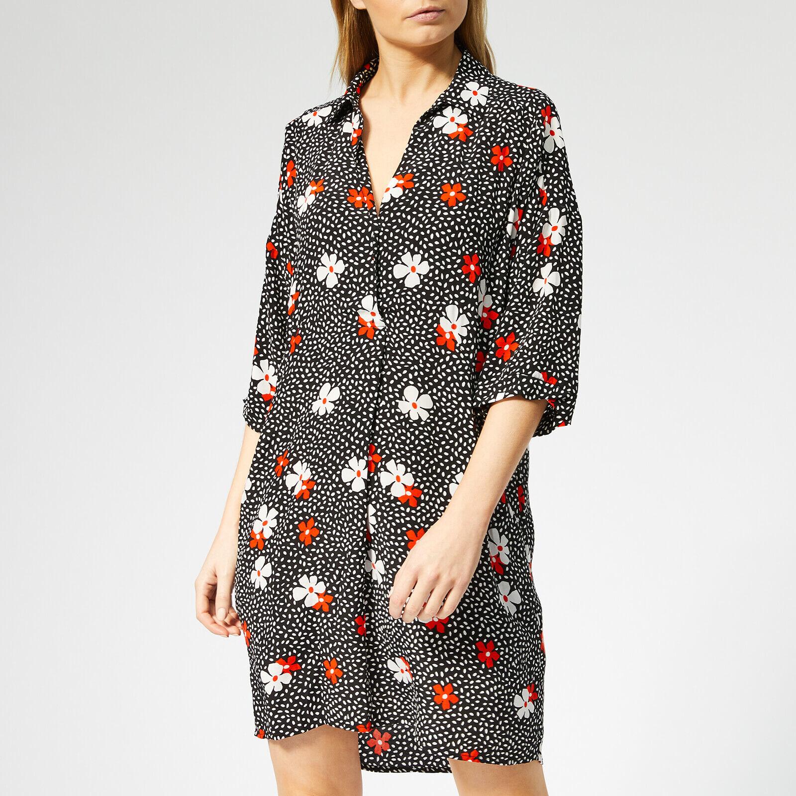Whistles Women's Lola Confetti Floral Print Dress - Black/Multi - XS - Black