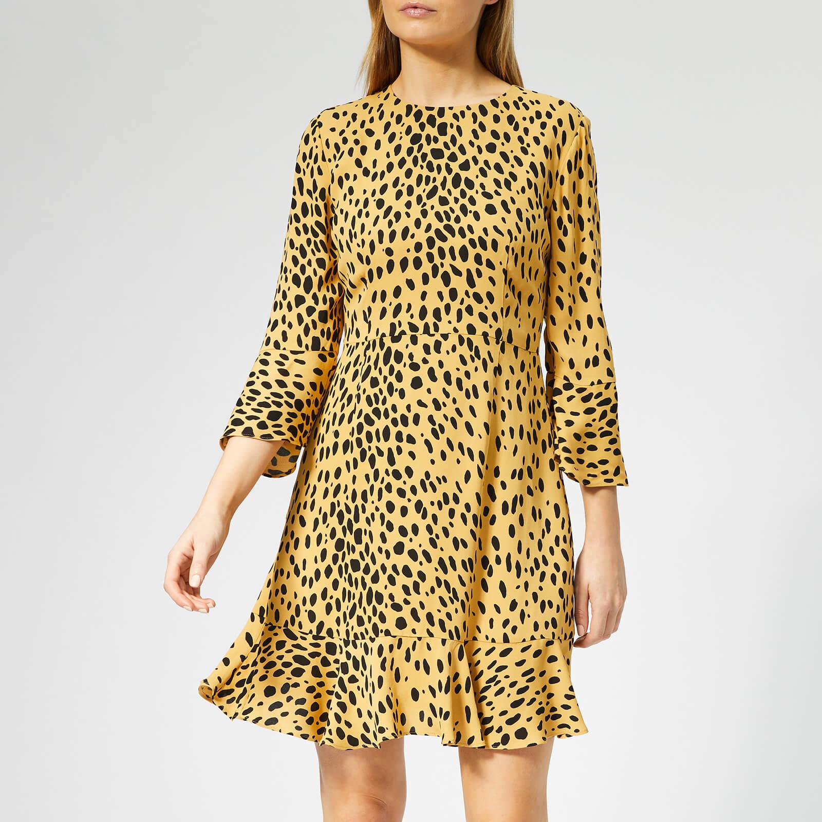 Whistles Women's Animal Print Flippy Dress - Cream/Multi - UK 12 - Cream