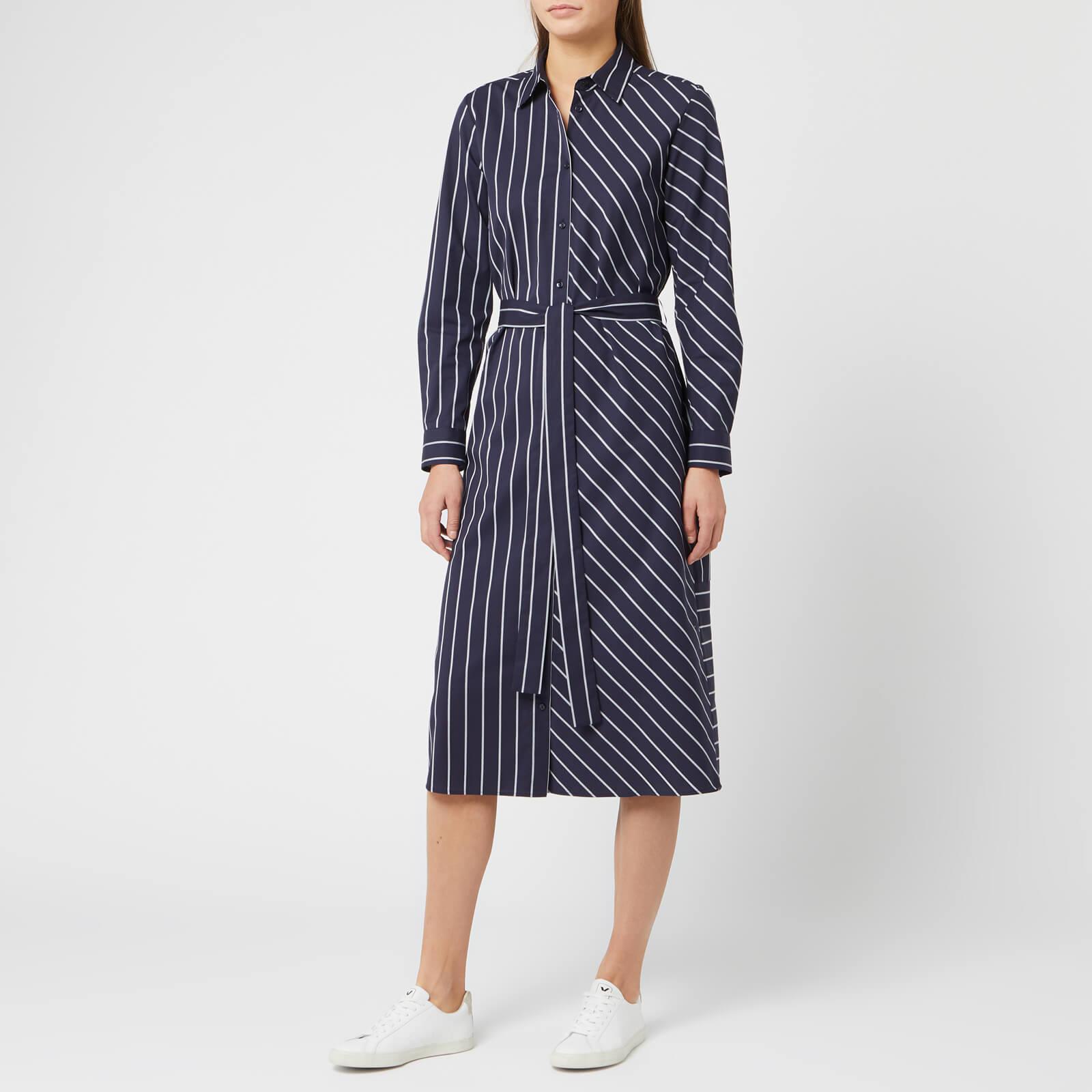 Hugo Boss Women's Elowen Stripe Dress - Navy - UK 6