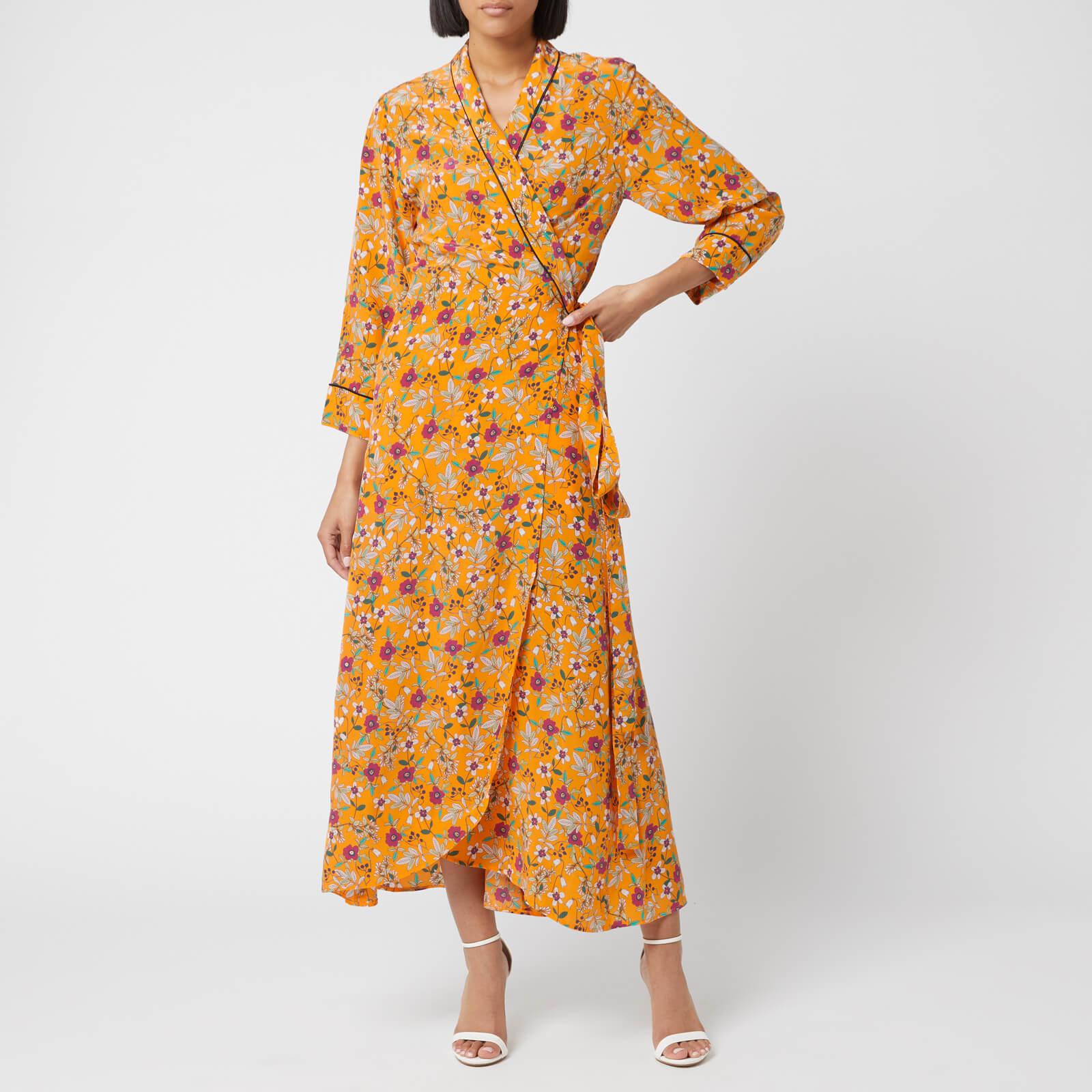 Hugo Boss Women's Kerlina Floral Wrap Dress - Orange Floral - UK 6