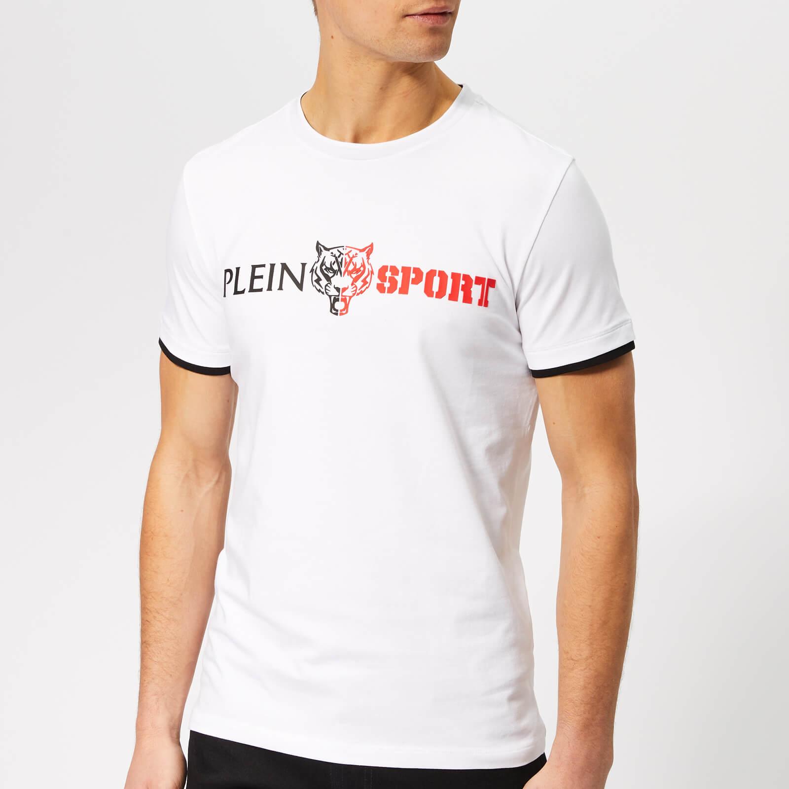 Plein Sport Men's Statement Round Neck T-Shirt - White/Black - L - White/Black