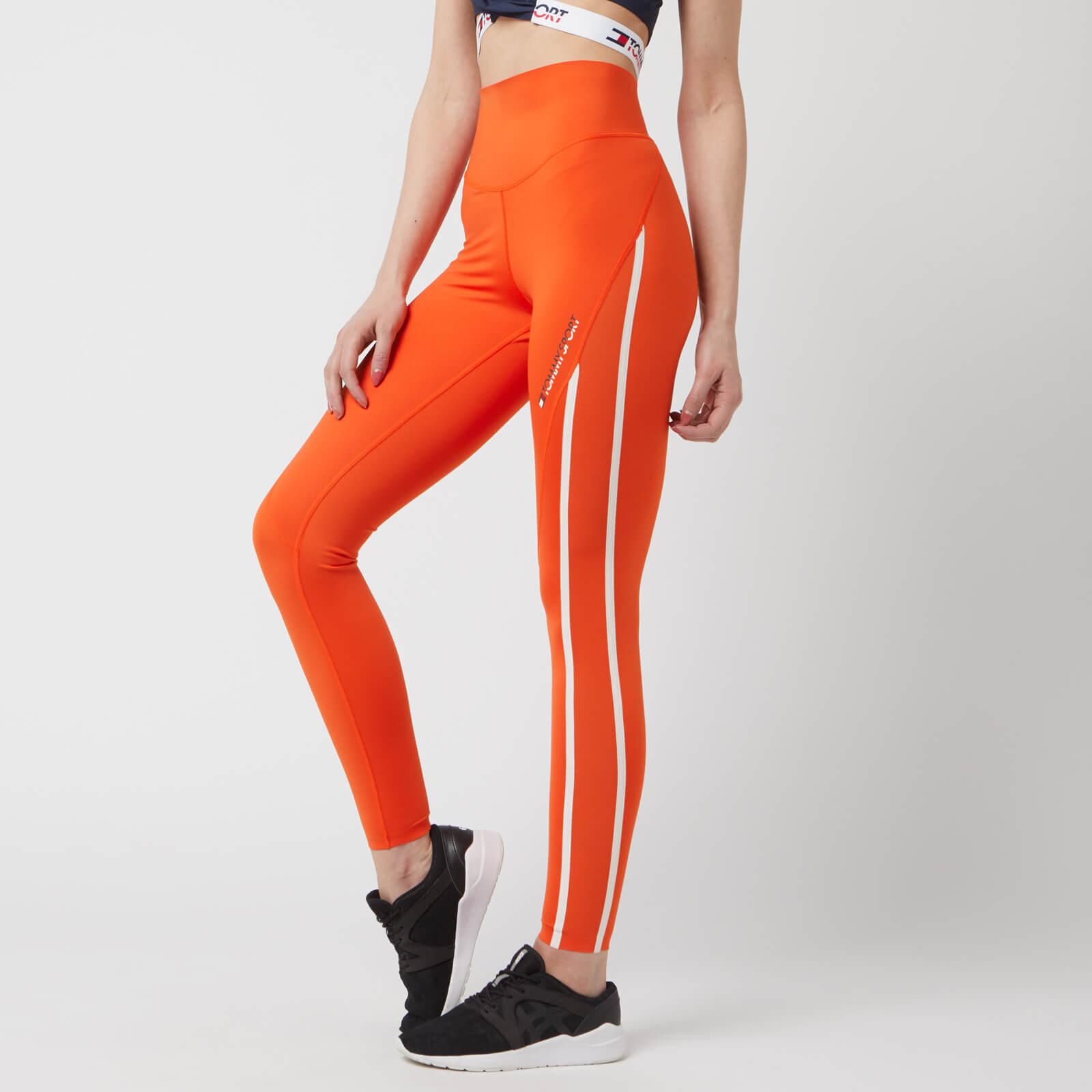 Tommy Hilfiger Sport Women's 220 High Waist Leggings - Cherry Tomato - S - Orange
