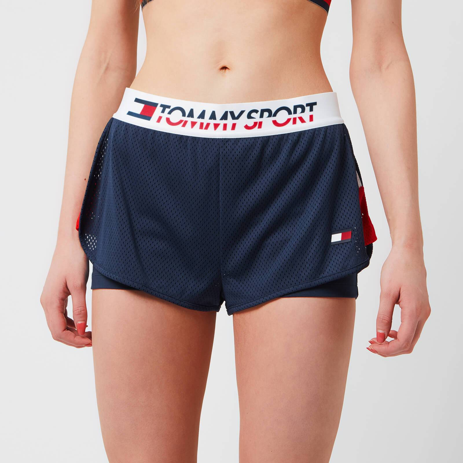 Tommy Hilfiger Sport Women's Shorts With Inner Tights - Sport Navy - S - Blue