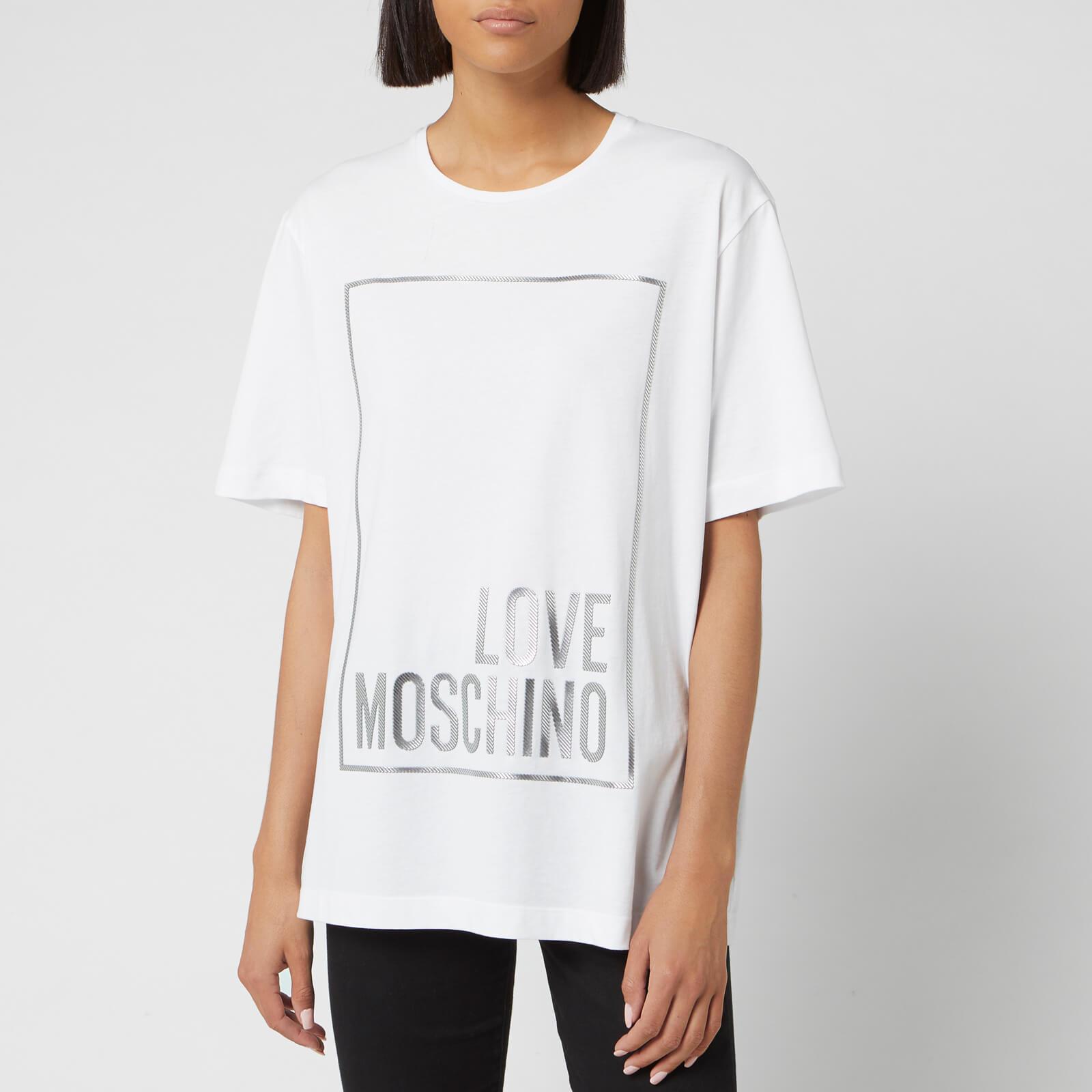 Moschino Love Moschino Women's Logo Box T-Shirt - Optical White - IT 40/UK 8 - White