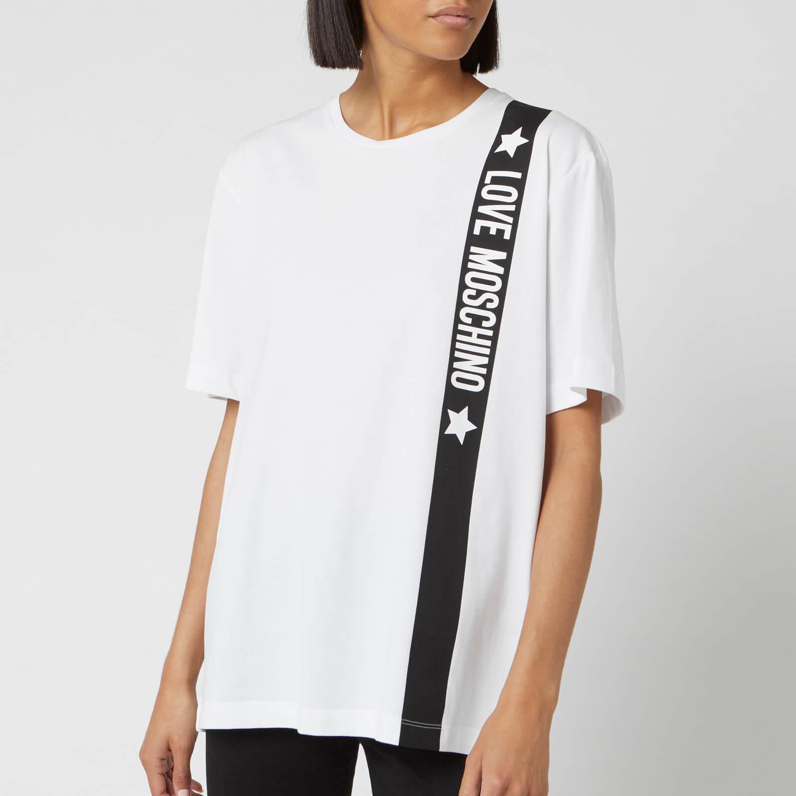 Moschino Love Moschino Women's Tape Logo T-Shirt - Optical White - IT 40/UK 8 - White