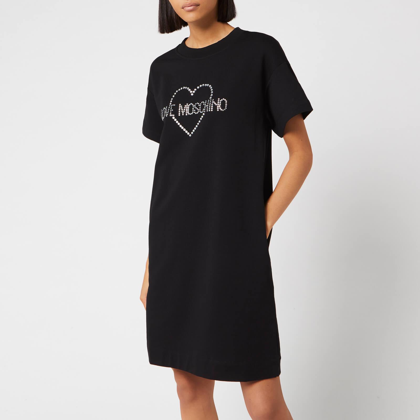 Moschino Love Moschino Women's Logo T-Shirt Dress - Black - IT 44/UK 12 - Black