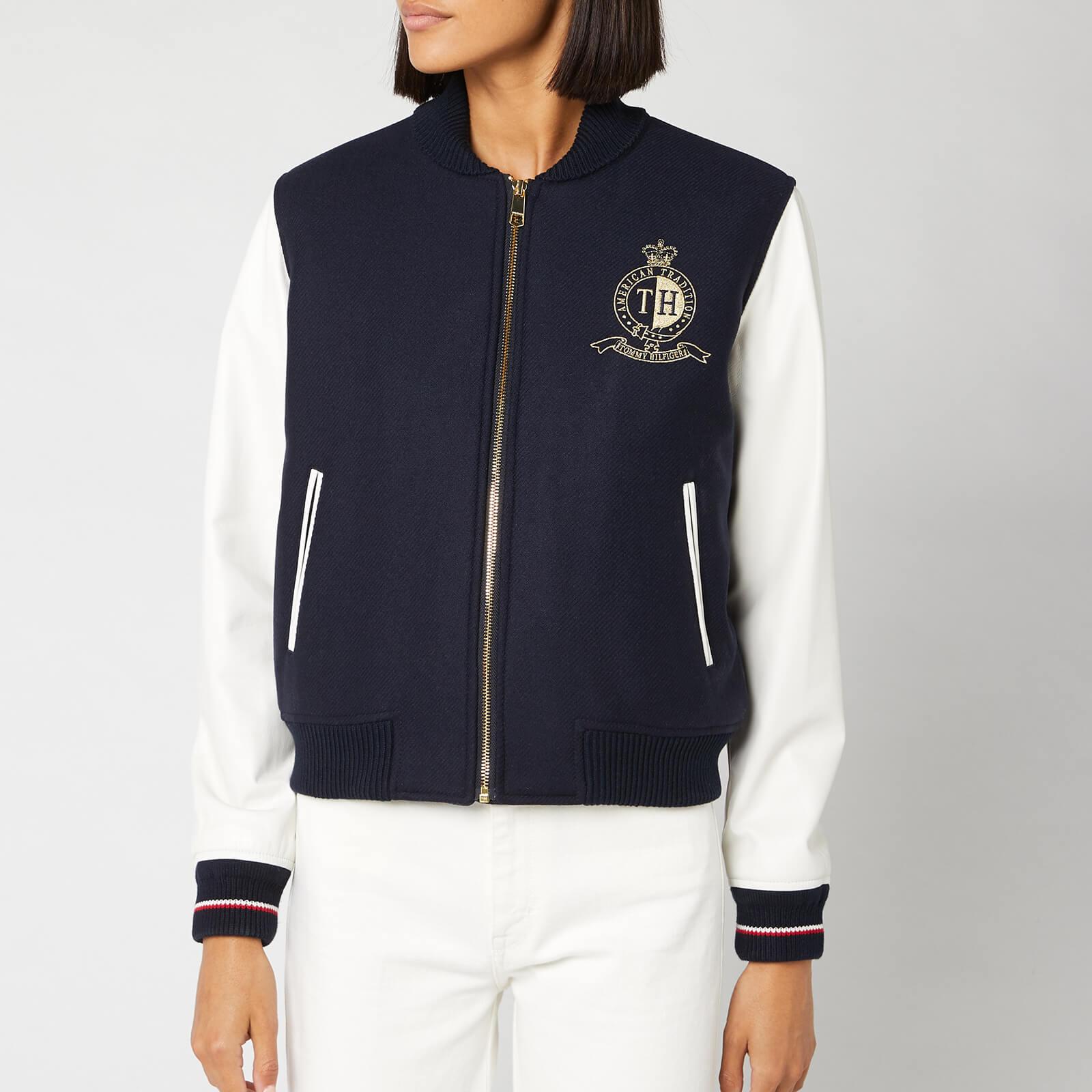 Tommy Hilfiger Women's Belle Baseball Jacket - Sky Captain - US 8/UK 12 - Blue