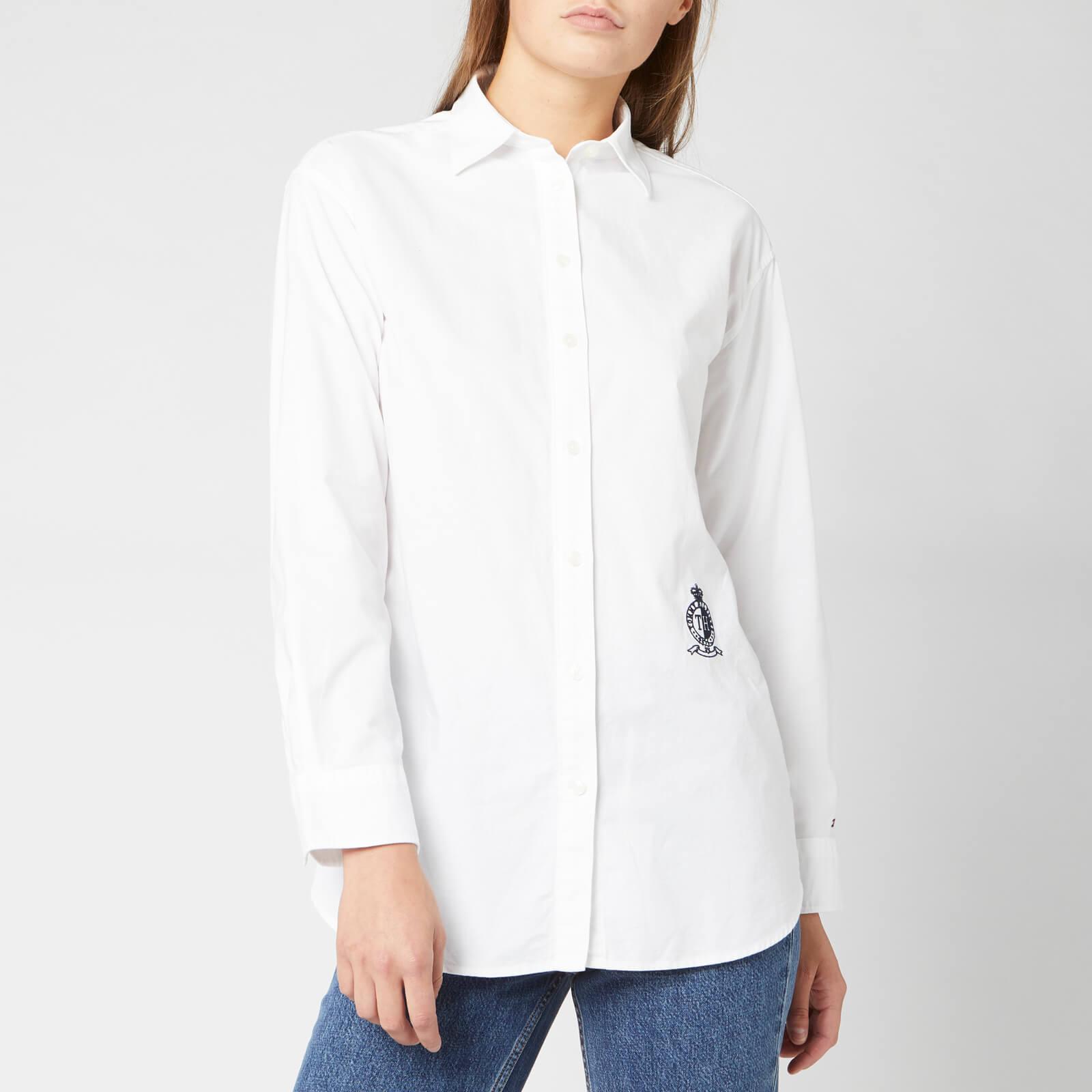 Tommy Hilfiger Women's Fawn Boyfriend Shirt - Classic White - US 6/UK 10 - White