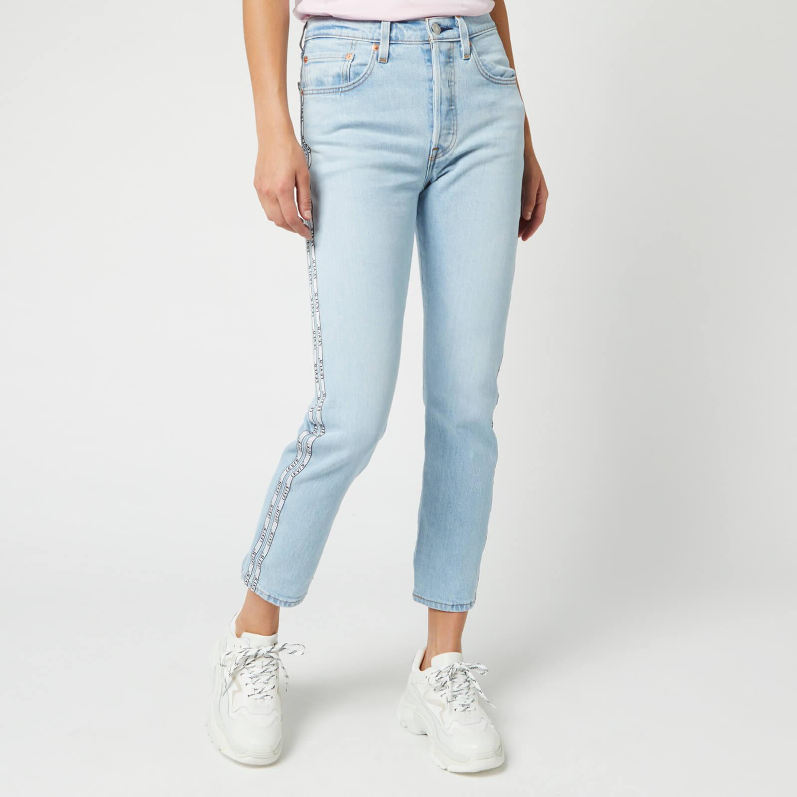 Levi's s 501 Crop Tape Jeans - Light Indigo - W28/L28 - Blue