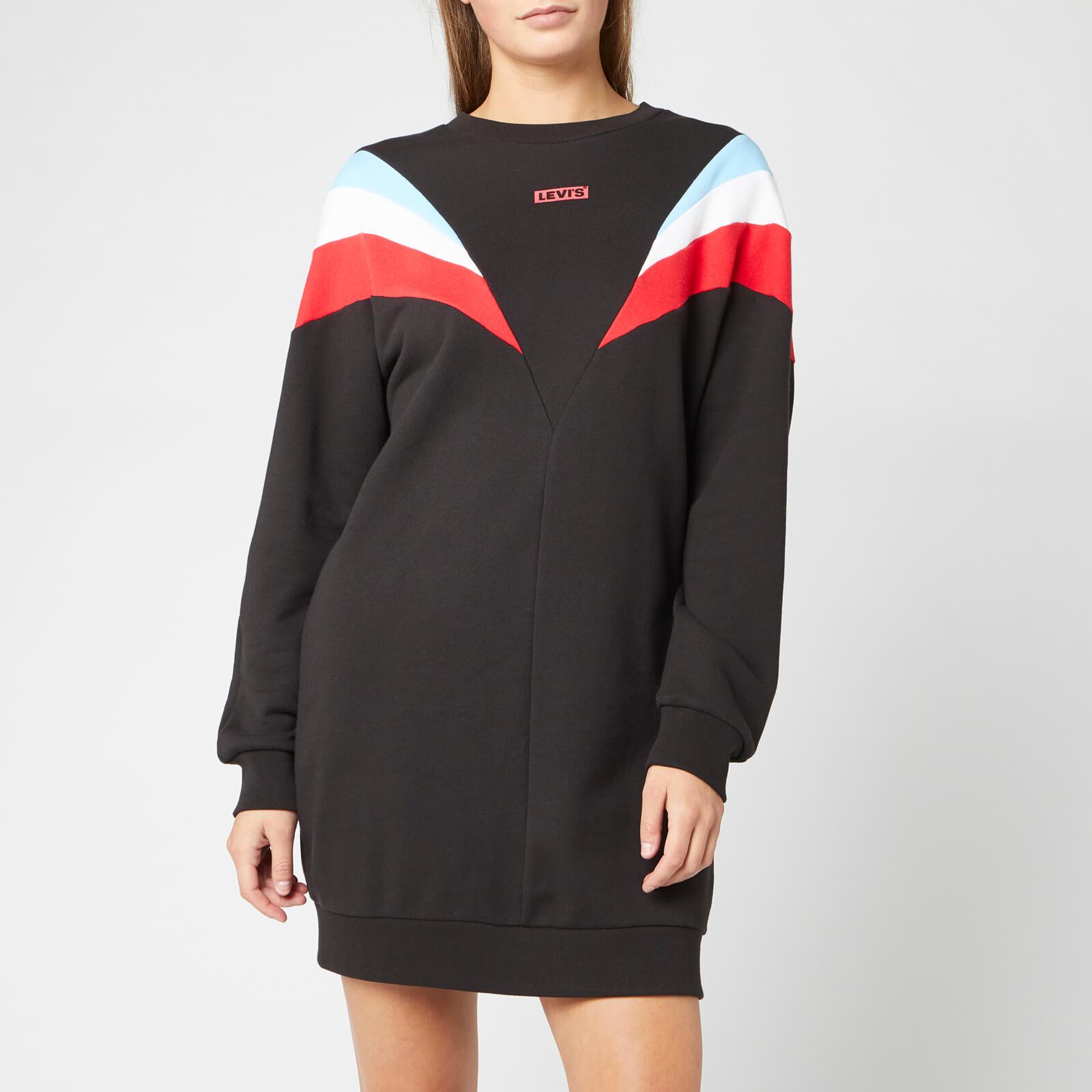 Levi's s Florence Crew Dress - Meteorite - XS - Black