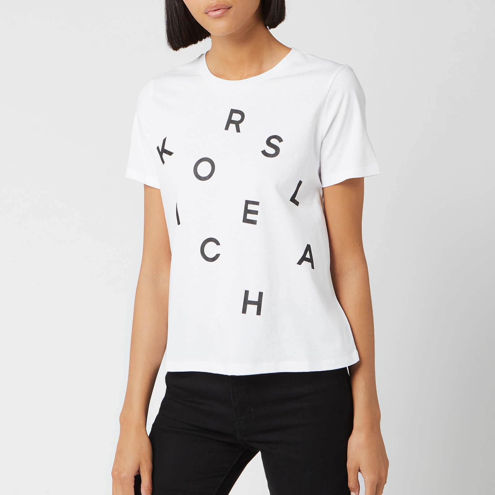MICHAEL MICHAEL KORS Women's Tossed Graphic Baby T-Shirt - White - L - White