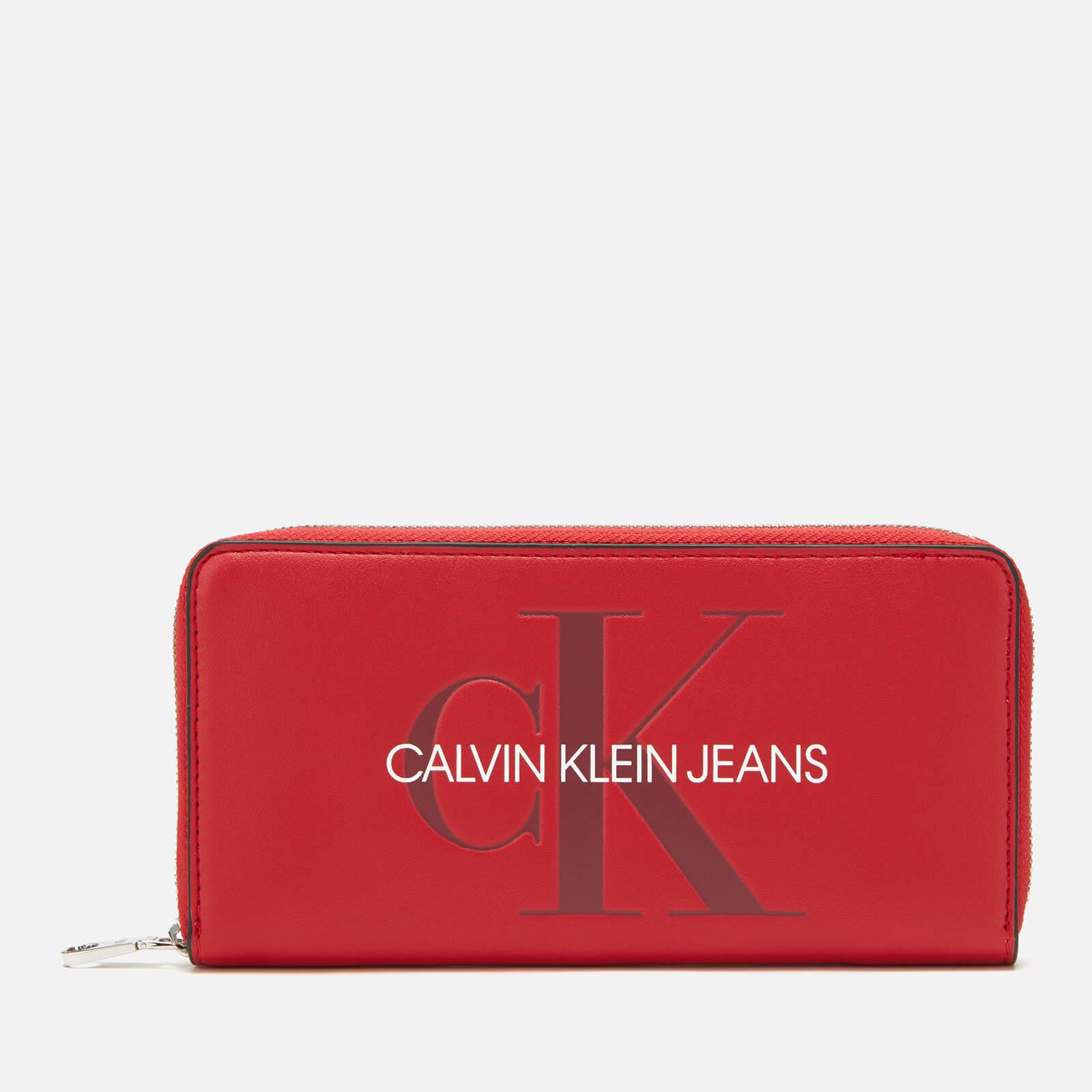 Calvin Klein Jeans Women's Large Ziparound Purse - Cherry