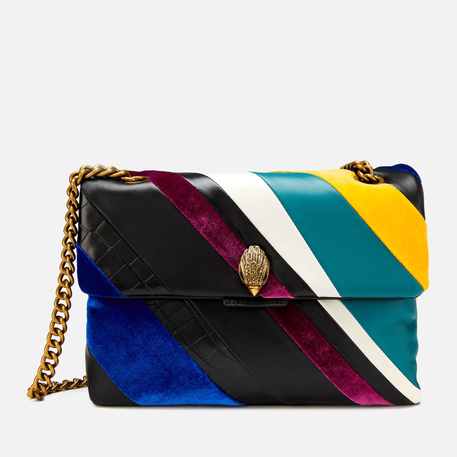Kurt Geiger Women's Large Kensington S Bag - Black/Green