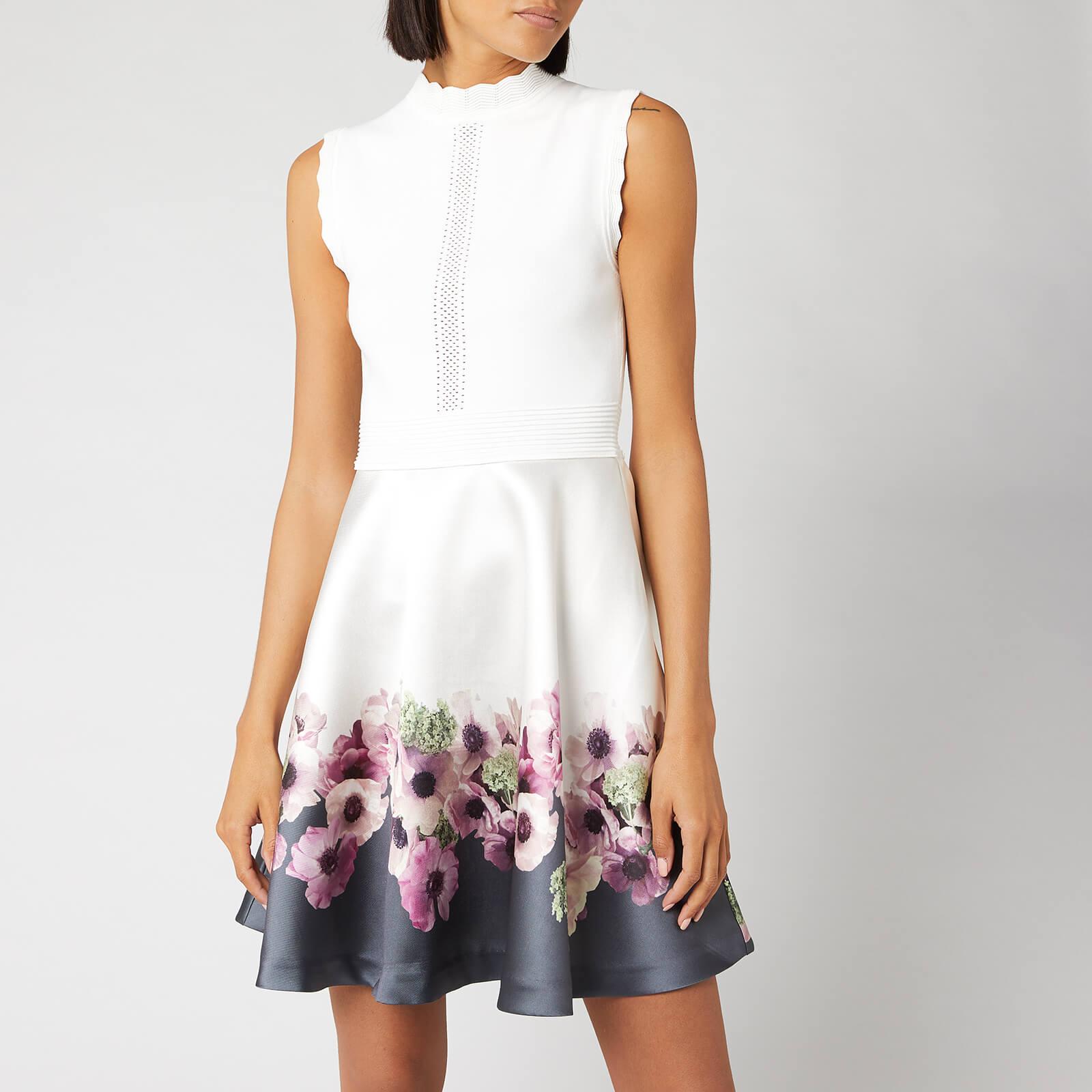 Ted Baker Women's Janyis Neopolitan Skater Dress - Ivory - 1/UK 8 - Cream
