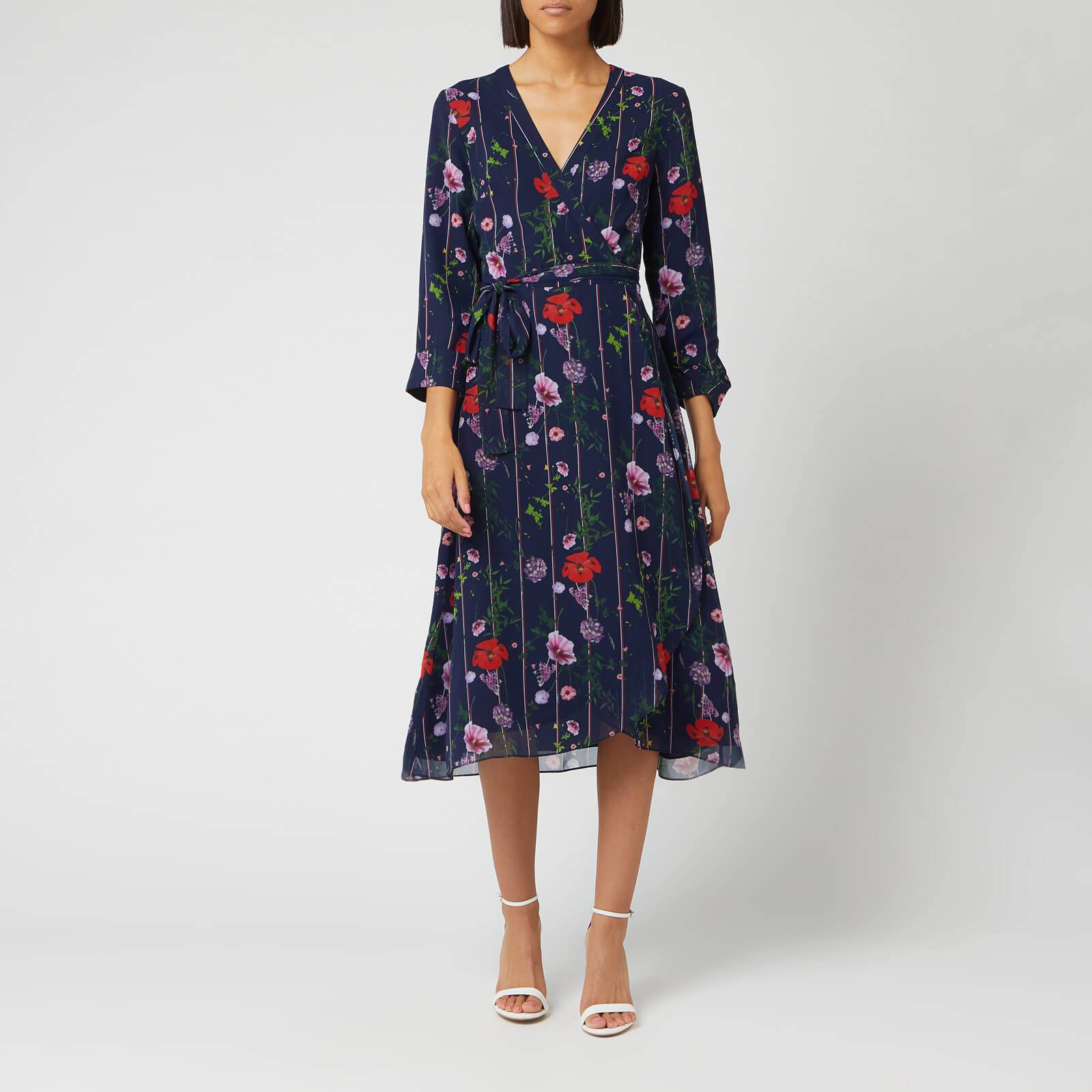 Ted Baker Women's Elowisa Hedgerow Printed Wrap Dress - Dark Blue - 3/UK 12 - Blue