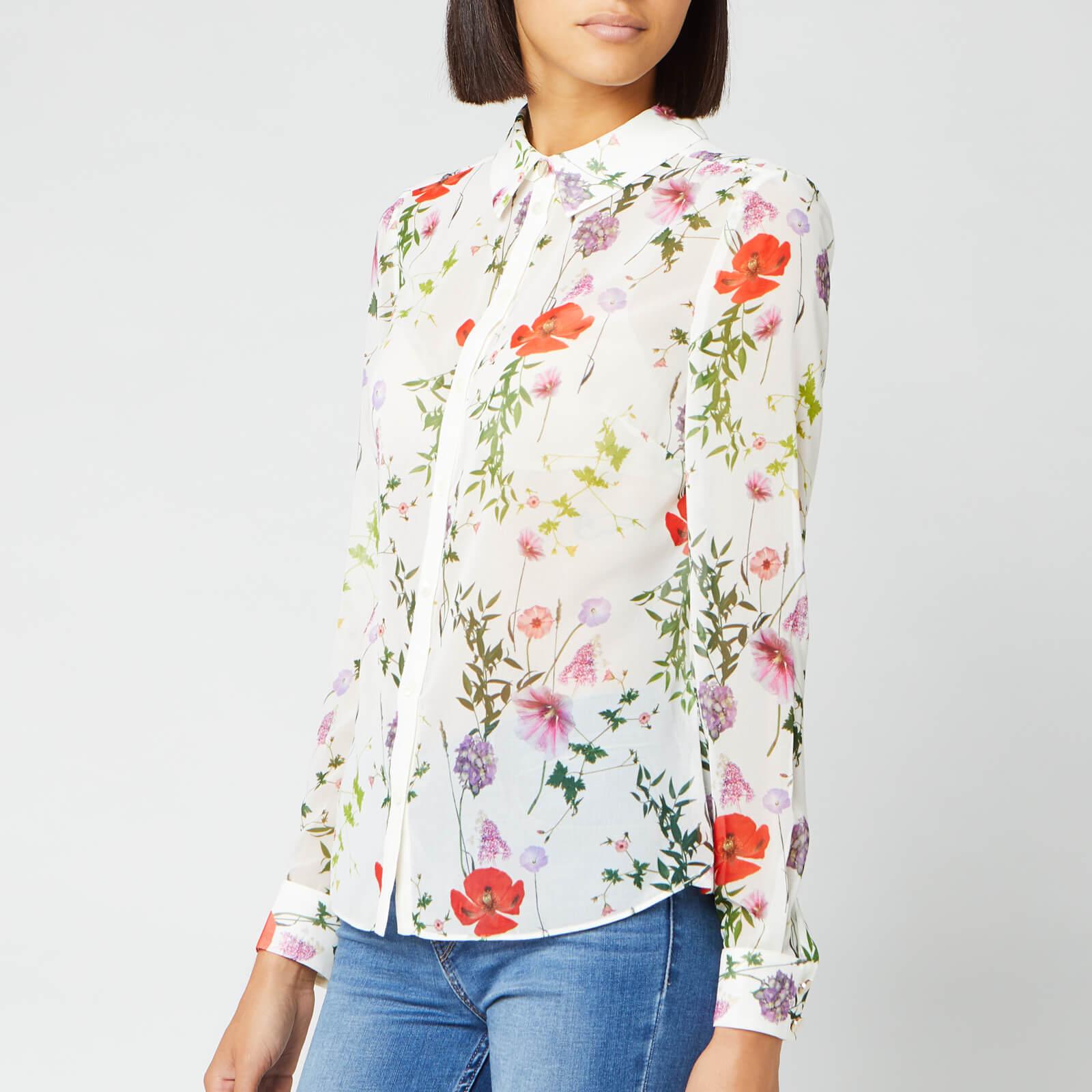 Ted Baker Women's Shivany Hedgerow Printed Shirt - Ivory - 1/UK 8 - Cream