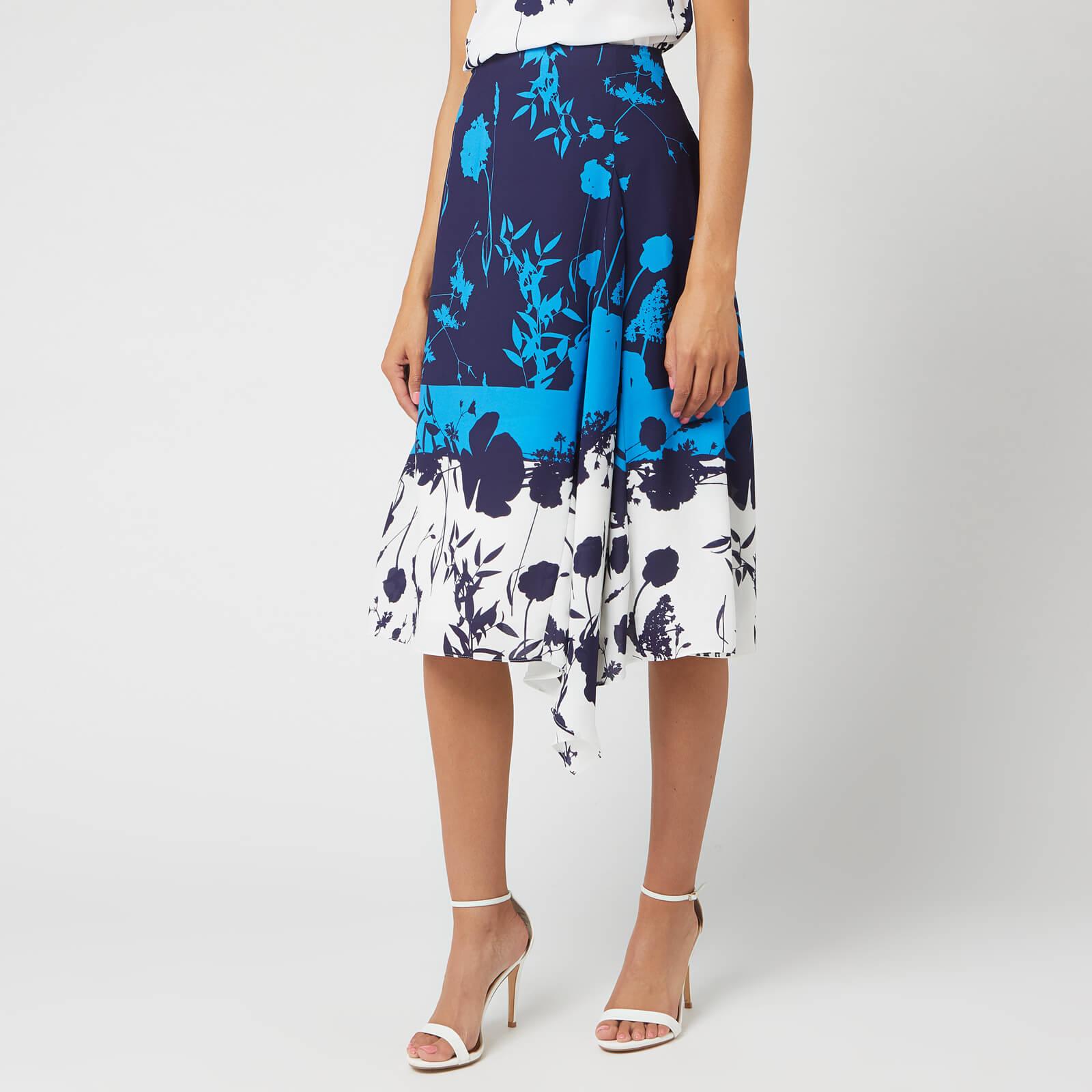 Ted Baker Women's Samanth Bluebell Asymmetric Hem Skirt - Dark Blue - 4/UK 14 - Blue