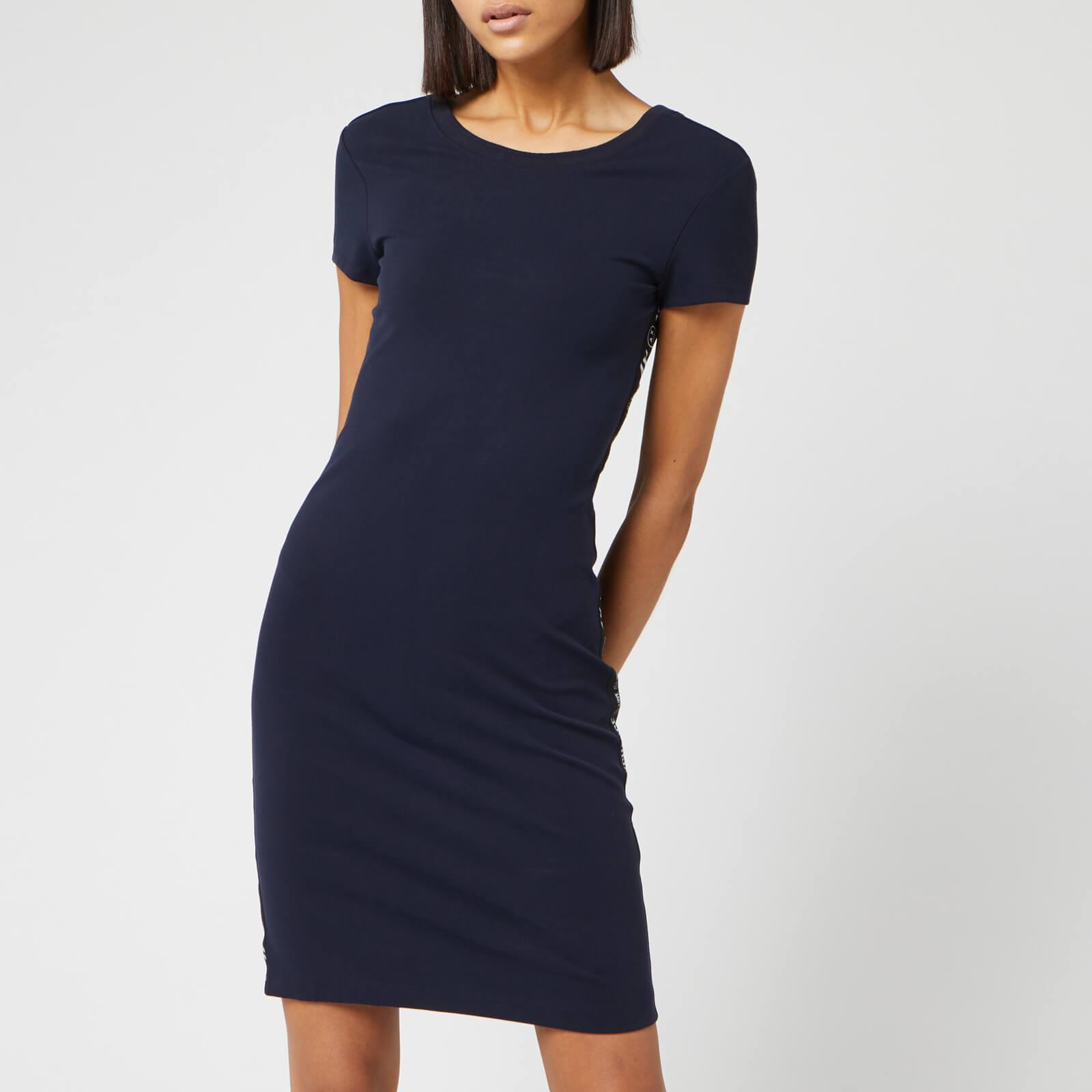 Armani Exchange Women's Logo Tape Dress - Navy - L - Blue
