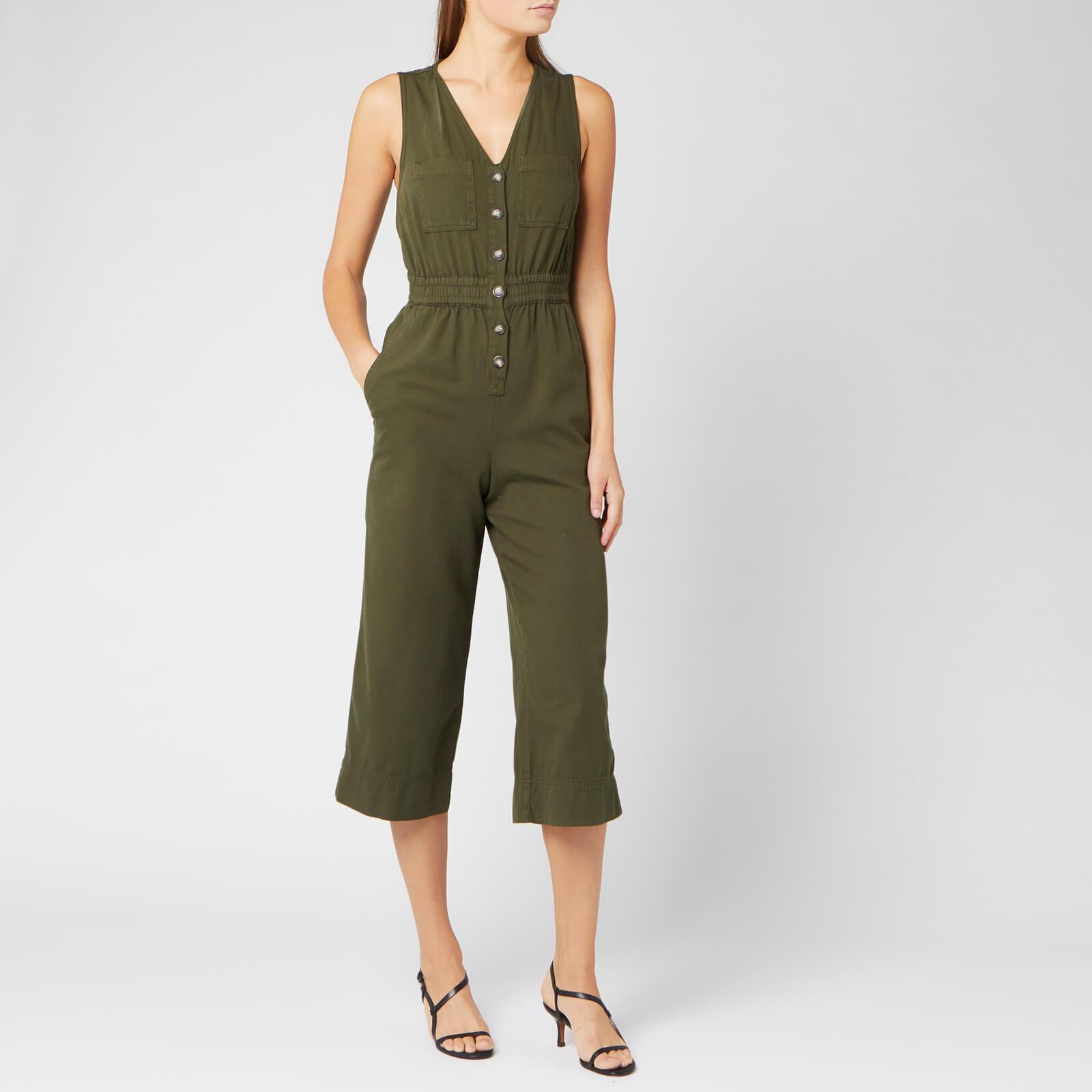 Whistles Women's Ria Denim Jumpsuit - Khaki - UK 12 - Green