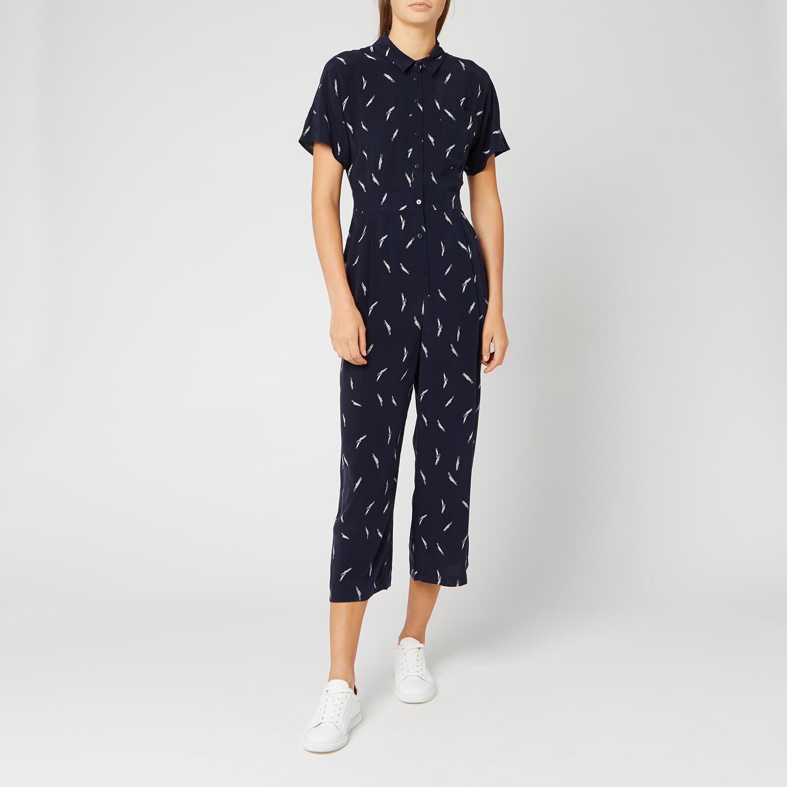 Whistles Women's Brushstroke Print Jumpsuit - Navy/Multi - UK 8 - Blue