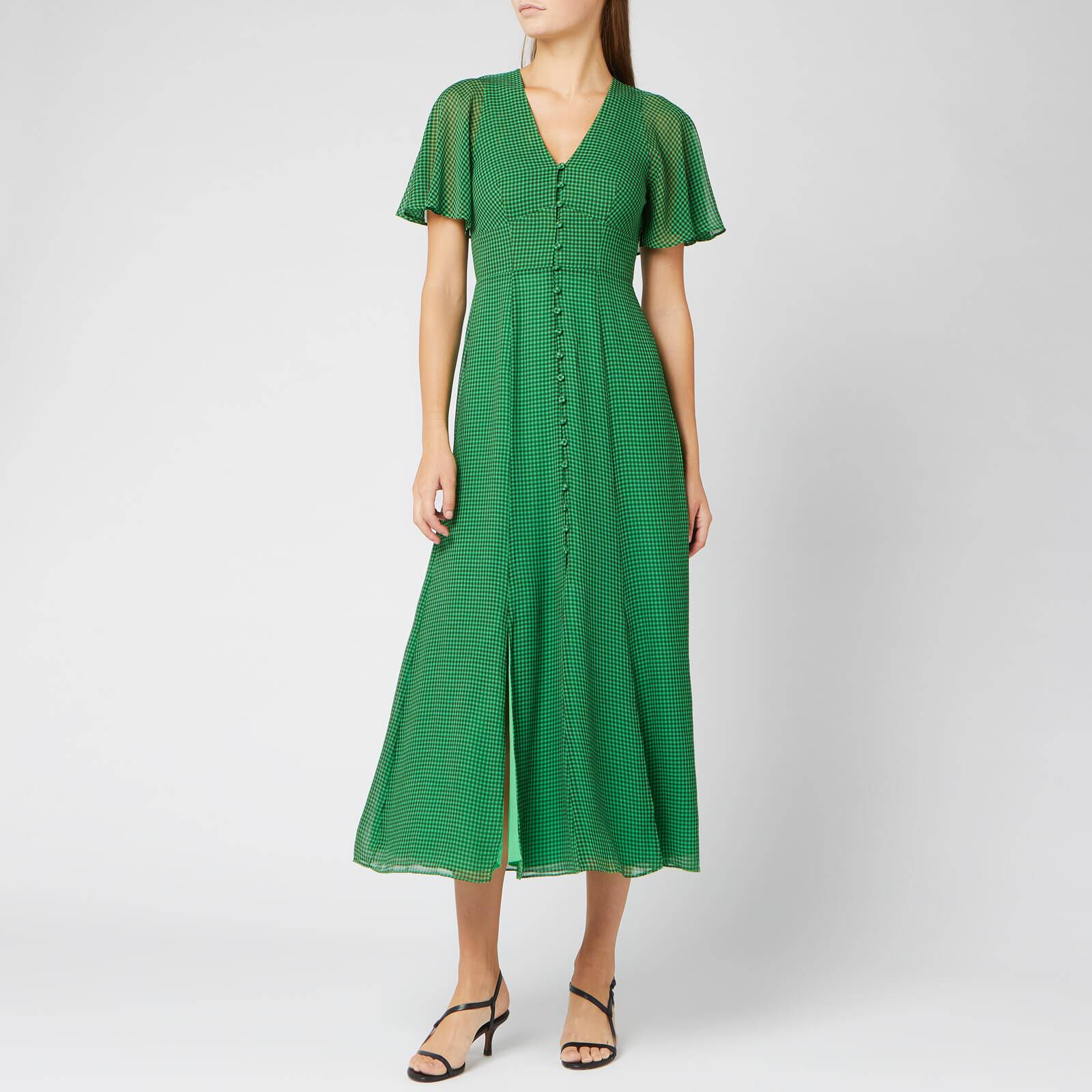 Whistles Women's Cecily Check Dress - Green/Multi - UK 8 - Green