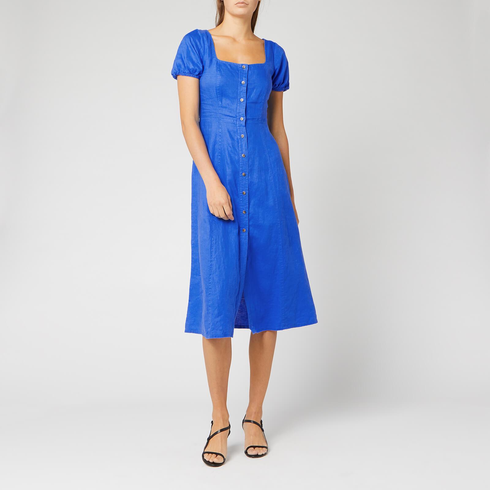 Whistles Women's Remi Linen Dress - Blue - UK 10 - Blue