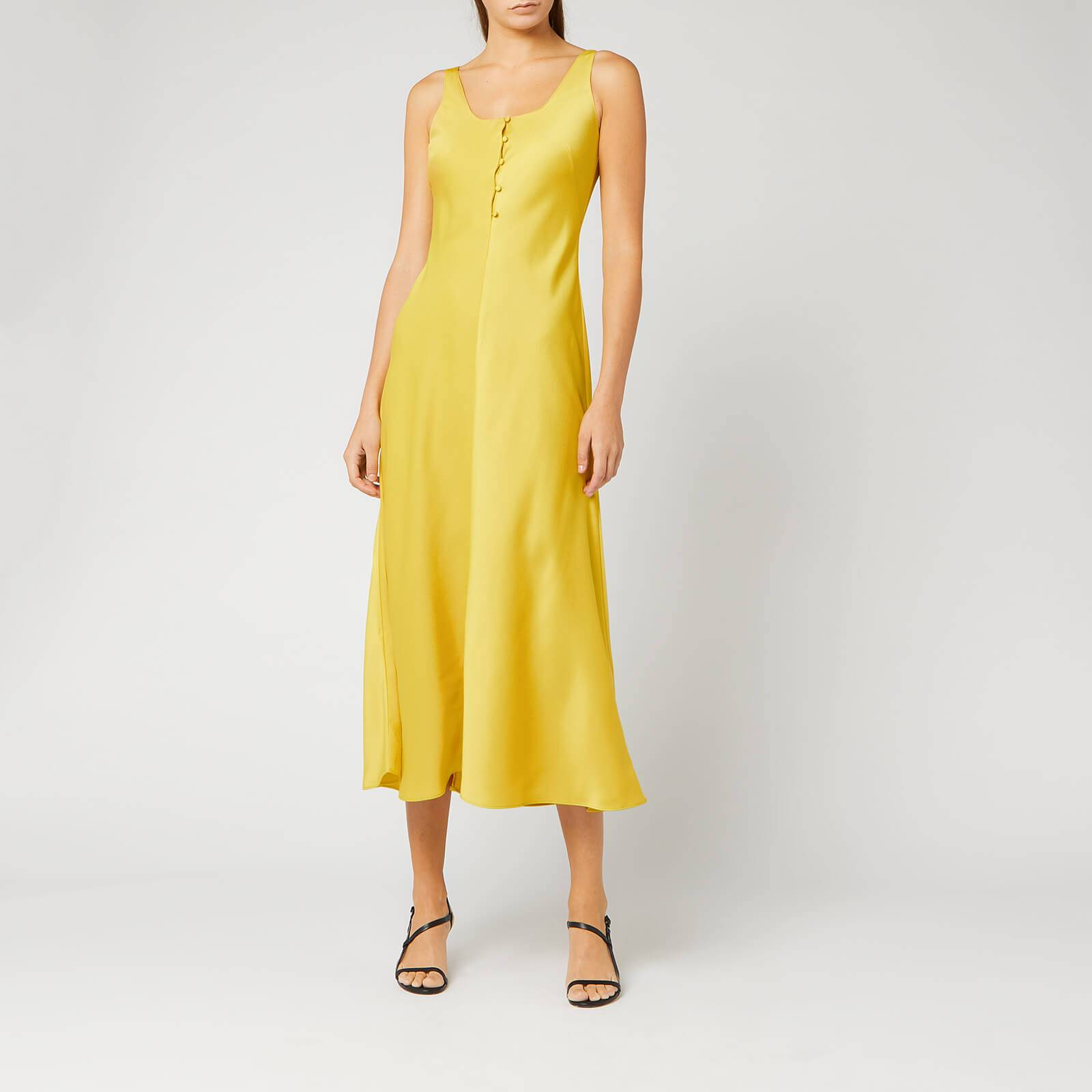 Whistles Women's Pippa Satin Slip Dress - Yellow - UK 12 - Yellow