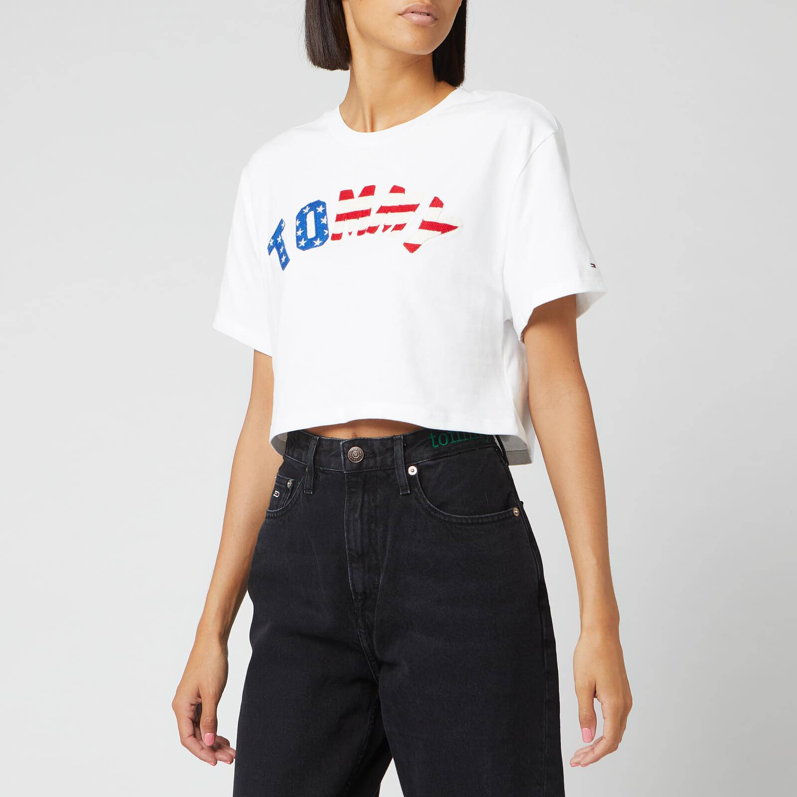 Tommy Jeans Women's Tommy US Flag T-Shirt - Classice White - L - White