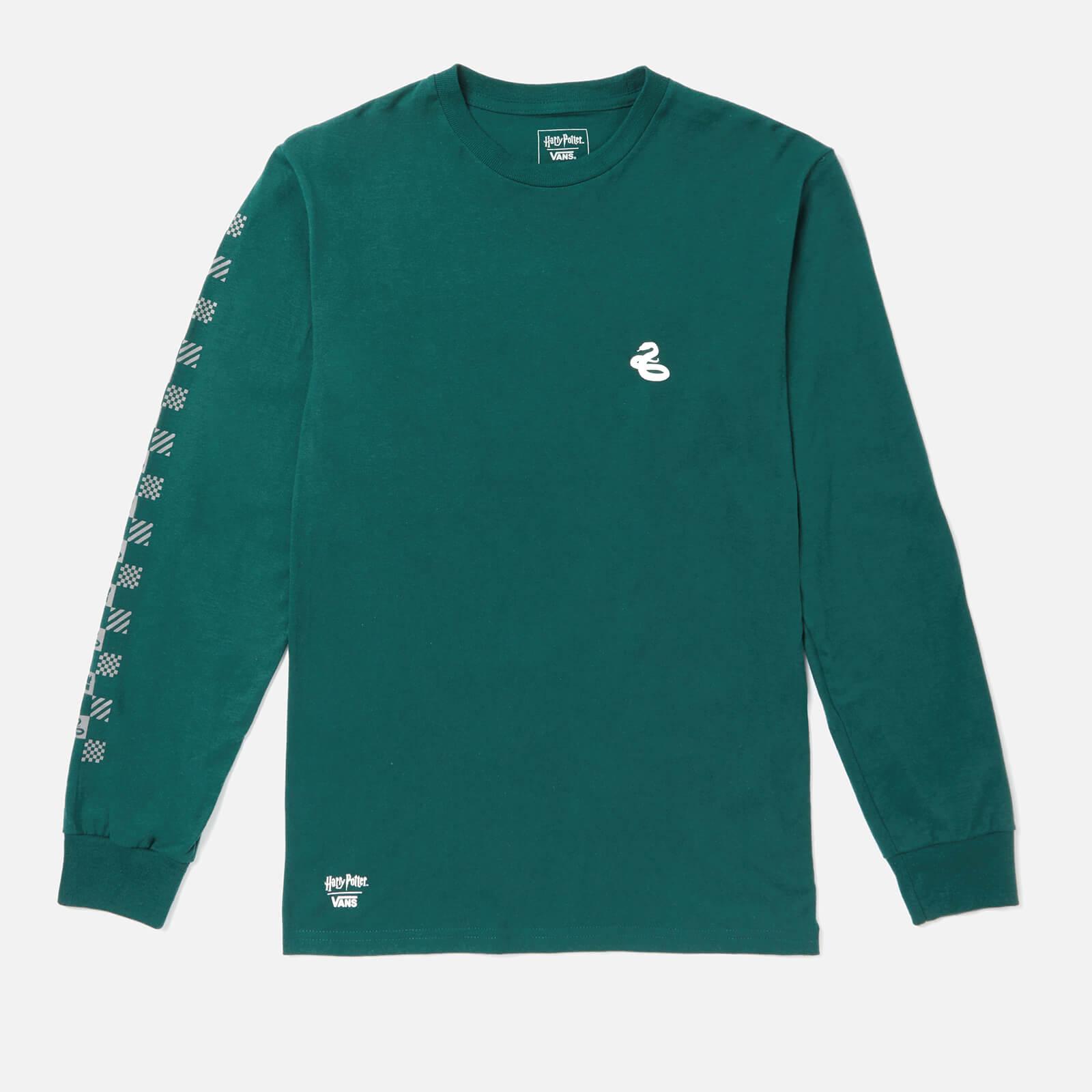 Vans X Harry Potter Men's Slytherin Long Sleeve T-Shirt - Trekking Green - XL - Green