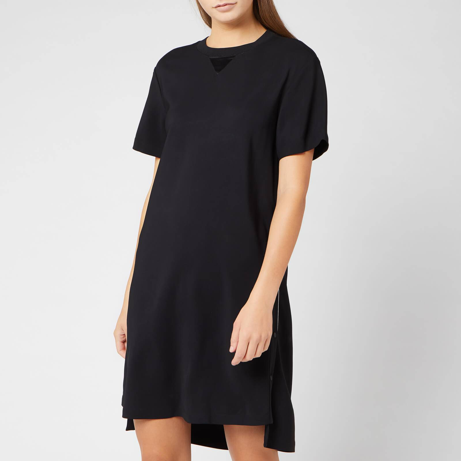 Karl Lagerfeld Women's Dress with Snap Sides - Black - IT 40/UK 8