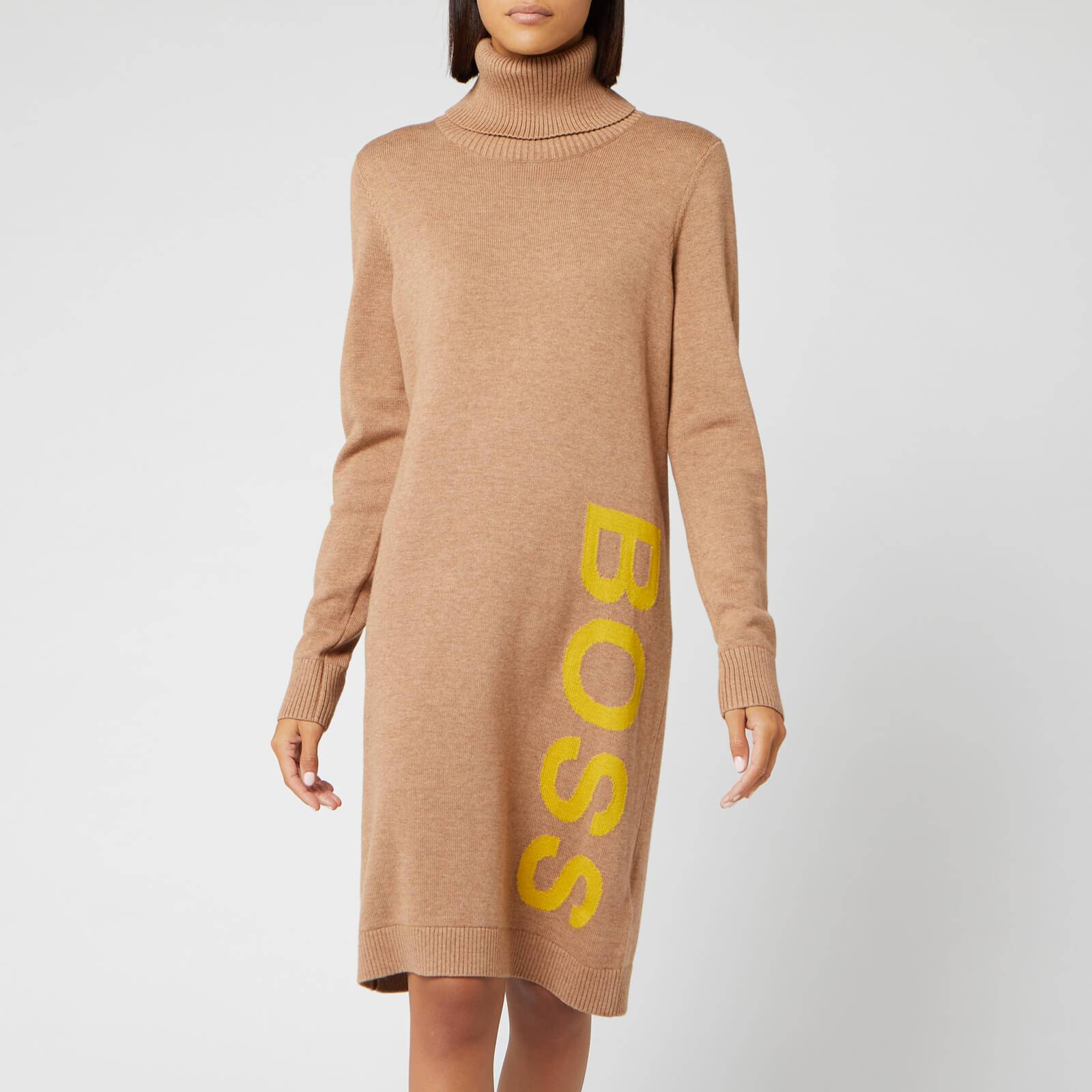 Boss Women's Wabellettas Logo Knitted Dress - Camel - M
