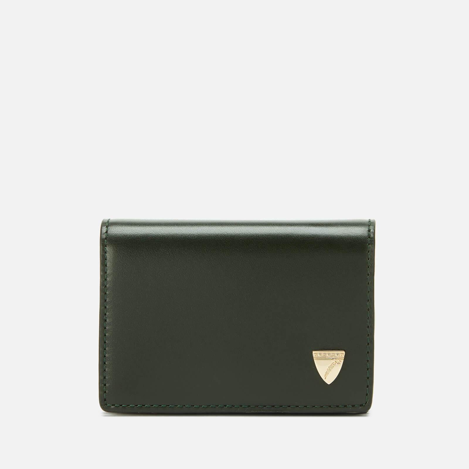 Aspinal of London Women's Accordion Card Case - Black/Evergreen/Peony