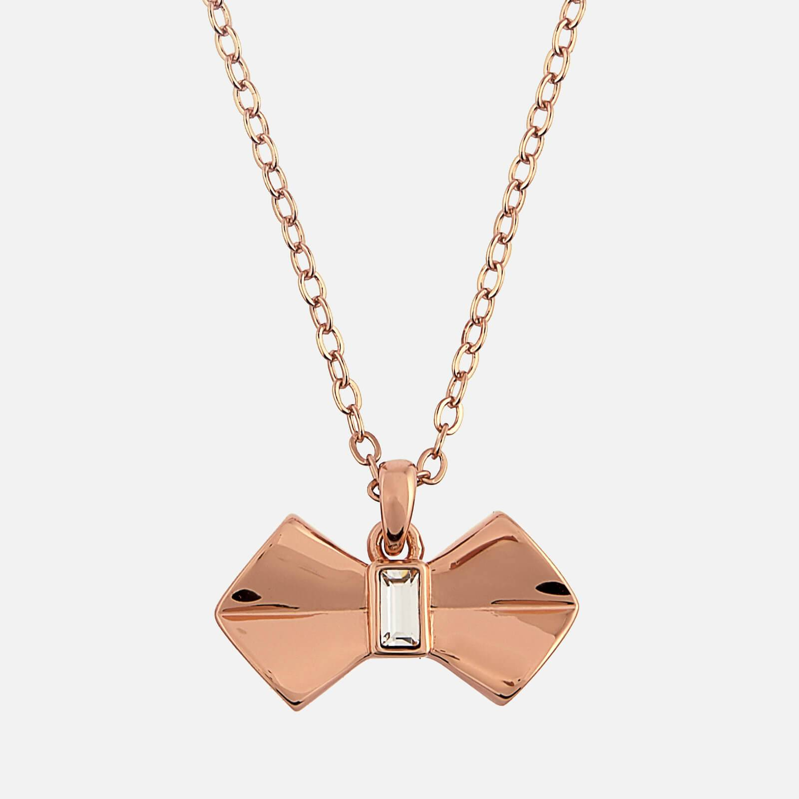 Ted Baker Women's Sarahli Solitaire Bow Pendant - Rose Gold