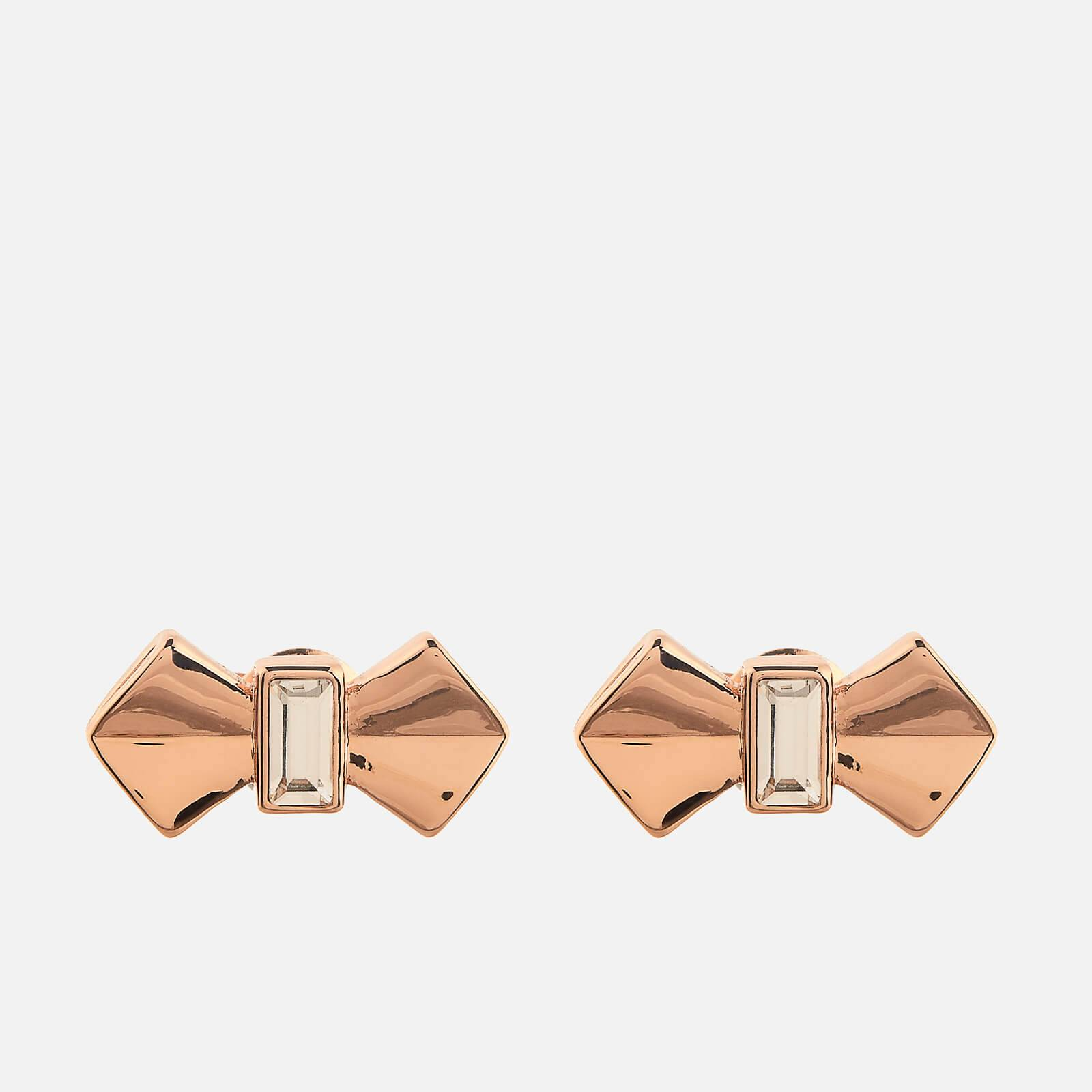 Ted Baker Women's Susli Solitaire Bow Stud Earrings - Rose Gold