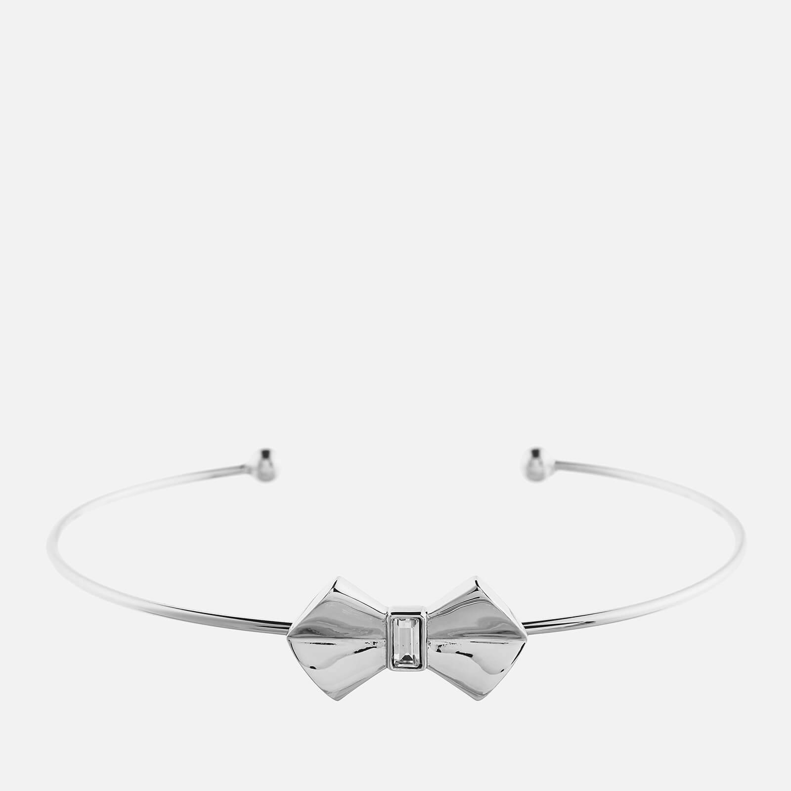 Ted Baker Women's Sakarah Solitaire Bow Ultra Fine Cuff - Silver